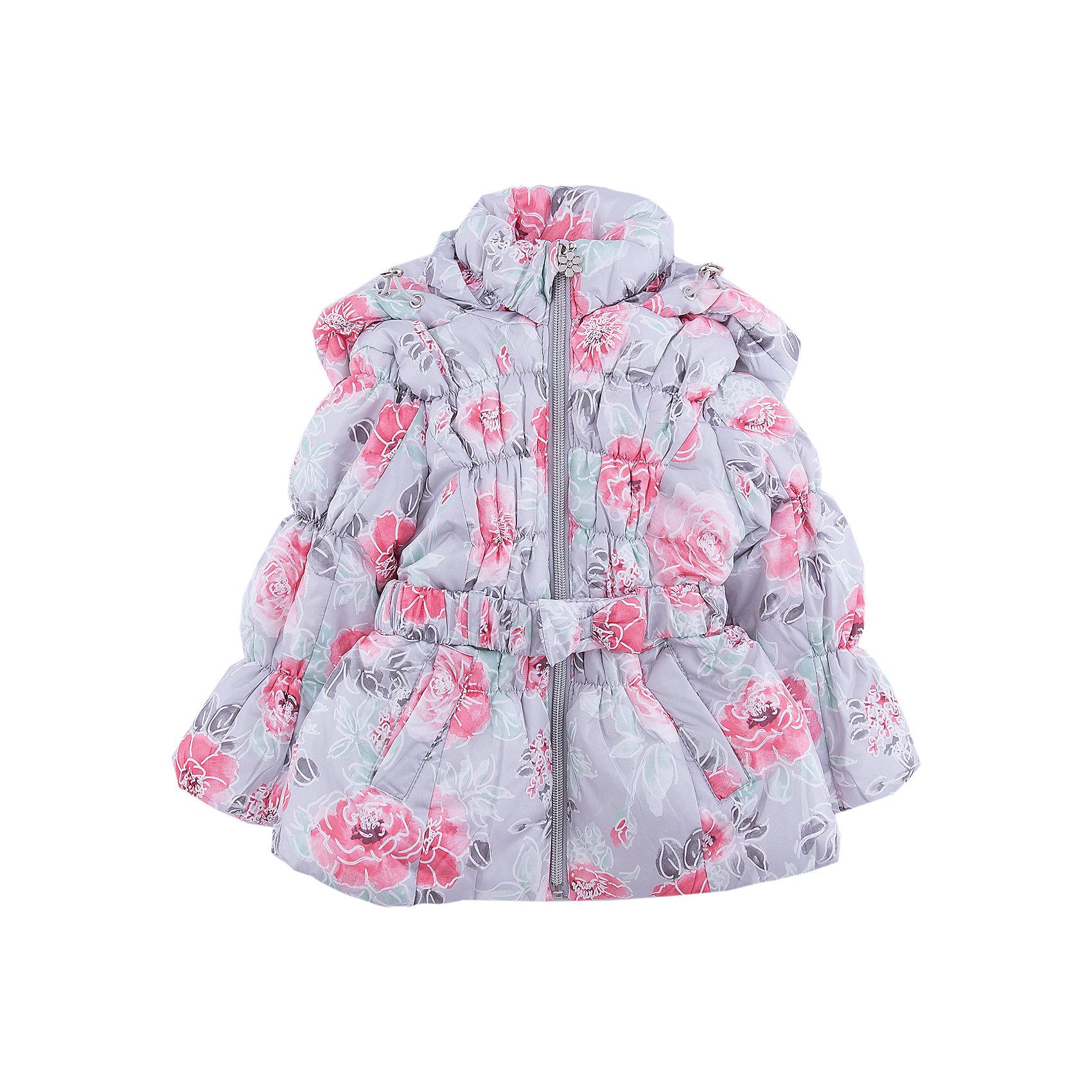 Куртка Sweet Berry для девочкиВерхняя одежда<br>Куртка Sweet Berry для девочки<br>Утепленная, стеганая куртка с оригинальным цветочным принтом для девочки. Воротник - стойка, меховая подкладка, цельнокроеный капюшон с утяжкой, два прорезных карманы, поясок. Приталенный крой.<br>Состав:<br>Верх: 100% полиэстер Подкладка: 100% полиэстер Наполнитель 100% полиэстер<br><br>Ширина мм: 356<br>Глубина мм: 10<br>Высота мм: 245<br>Вес г: 519<br>Цвет: серый<br>Возраст от месяцев: 24<br>Возраст до месяцев: 36<br>Пол: Женский<br>Возраст: Детский<br>Размер: 98,80,86,92<br>SKU: 7094453
