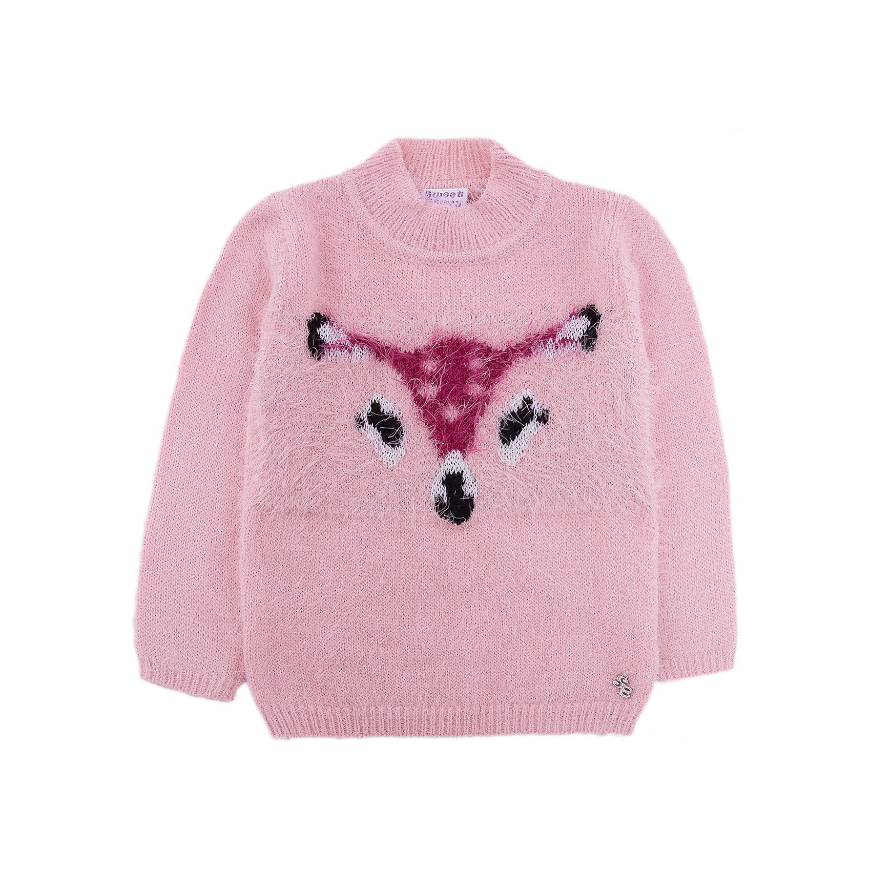 Свитер Sweet Berry для девочкиТолстовки, свитера, кардиганы<br>Свитер Sweet Berry для девочки<br>Мягкий свитер для девочки из ворсовой пряжи травка персикового цвета с завышенной горловиной декорированный жаккардовым рисунком оленёнок.<br>Состав:<br>60% нейлон, 40% акрил<br><br>Ширина мм: 190<br>Глубина мм: 74<br>Высота мм: 229<br>Вес г: 236<br>Цвет: розовый<br>Возраст от месяцев: 24<br>Возраст до месяцев: 36<br>Пол: Женский<br>Возраст: Детский<br>Размер: 98,80,86,92<br>SKU: 7094458