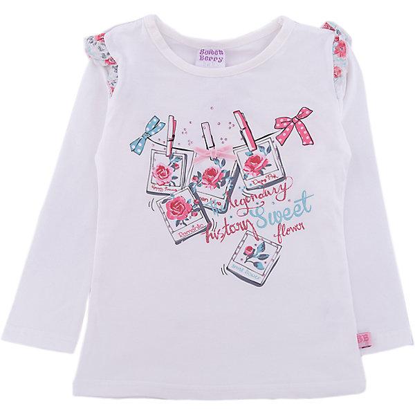 Футболка Sweet Berry для девочкиФутболки, топы<br>Футболка Sweet Berry для девочки<br>Трикотажная футболка с длинным рукавом из мягкого хлопкового полотна декорированная принтом и контрастной отделкой рукавов.<br>Состав:<br>95% хлопок, 5% эластан<br><br>Ширина мм: 199<br>Глубина мм: 10<br>Высота мм: 161<br>Вес г: 151<br>Цвет: бежевый<br>Возраст от месяцев: 12<br>Возраст до месяцев: 15<br>Пол: Женский<br>Возраст: Детский<br>Размер: 80,98,92,86<br>SKU: 7094478