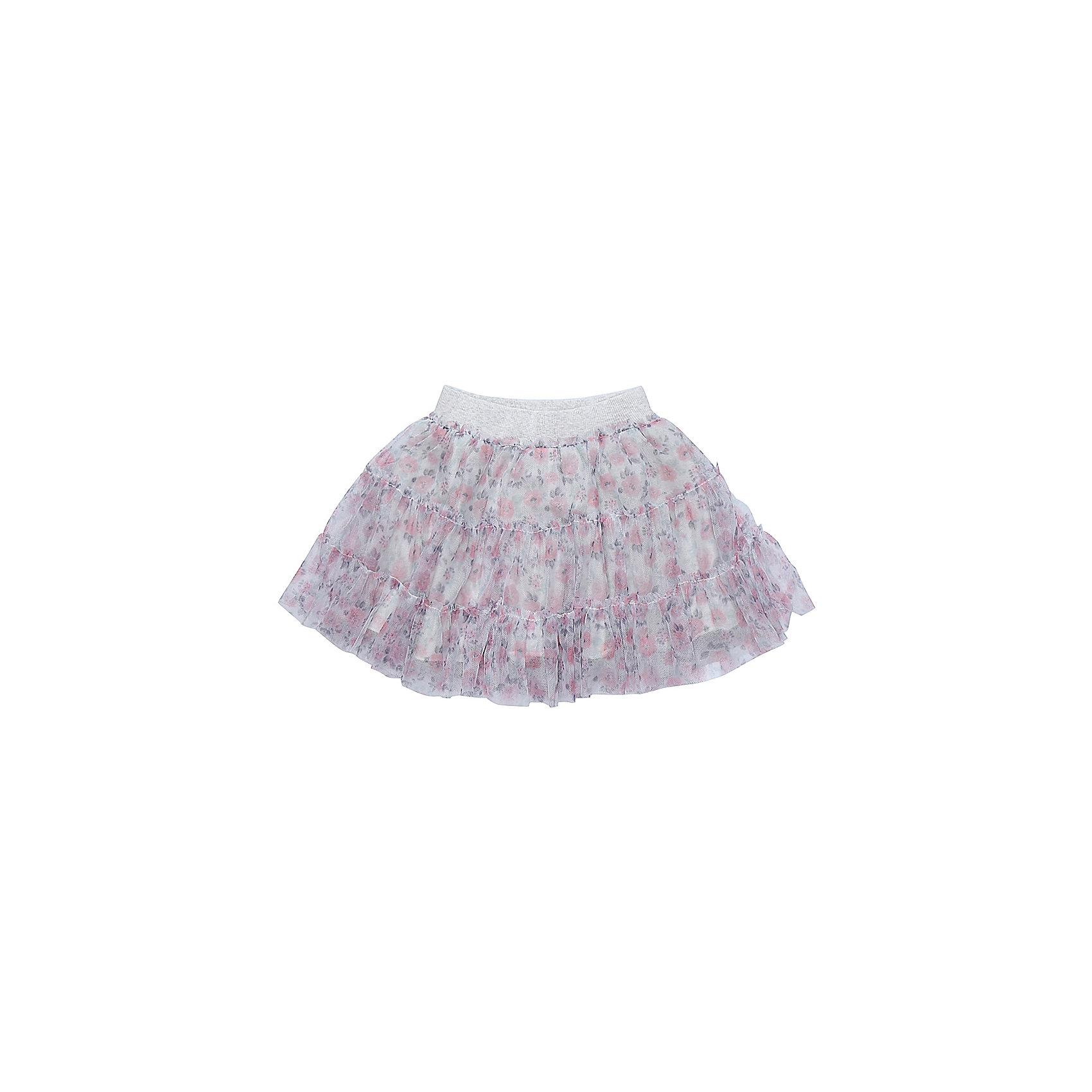 Юбка Sweet Berry для девочкиЮбки<br>Юбка Sweet Berry для девочки<br>Трикотажная юбка для девочки из фатина декорированная цветочным принтом. Хлопковаяй подкладка, широкий эластичный пояс.<br>Состав:<br>Верх: 100% полиэстер Подкладка: 95% хлопок, 5% эластан<br><br>Ширина мм: 207<br>Глубина мм: 10<br>Высота мм: 189<br>Вес г: 183<br>Цвет: серый<br>Возраст от месяцев: 24<br>Возраст до месяцев: 36<br>Пол: Женский<br>Возраст: Детский<br>Размер: 98,86,80,92<br>SKU: 7094493