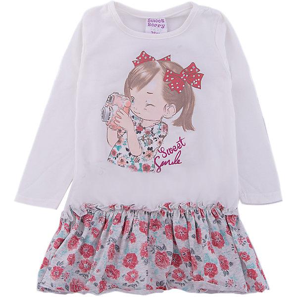 Платье Sweet Berry для девочкиПлатья<br>Платье Sweet Berry для девочки<br>Трикотажное платье для девочки с длинным рукавом из мягкого хлопкового полотна декорированное милым принтом и контрастным воланом по низу изделия.<br>Состав:<br>95% хлопок, 5% эластан<br><br>Ширина мм: 236<br>Глубина мм: 16<br>Высота мм: 184<br>Вес г: 177<br>Цвет: бежевый<br>Возраст от месяцев: 12<br>Возраст до месяцев: 15<br>Пол: Женский<br>Возраст: Детский<br>Размер: 80,98,92,86<br>SKU: 7094518
