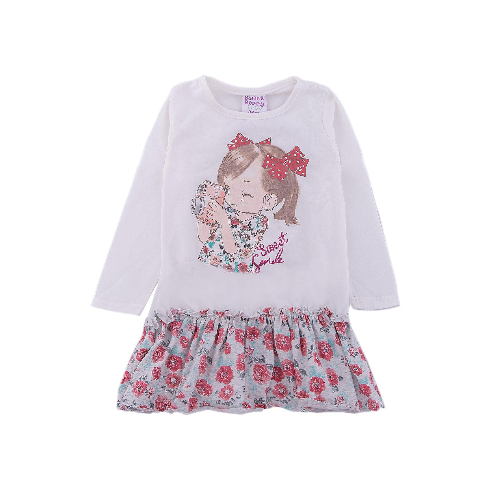 Платье Sweet Berry для девочкиПлатья<br>Платье Sweet Berry для девочки<br>Трикотажное платье для девочки с длинным рукавом из мягкого хлопкового полотна декорированное милым принтом и контрастным воланом по низу изделия.<br>Состав:<br>95% хлопок, 5% эластан<br><br>Ширина мм: 236<br>Глубина мм: 16<br>Высота мм: 184<br>Вес г: 177<br>Цвет: бежевый<br>Возраст от месяцев: 24<br>Возраст до месяцев: 36<br>Пол: Женский<br>Возраст: Детский<br>Размер: 98,80,86,92<br>SKU: 7094518