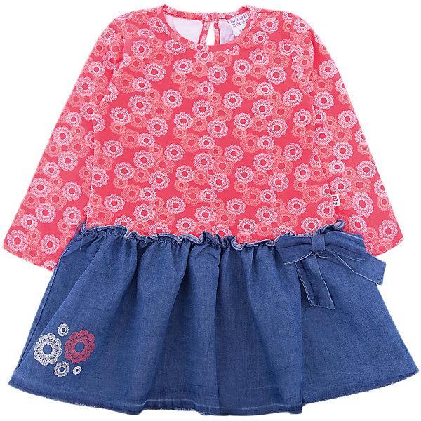 Платье Sweet Berry для девочкиПлатья<br>Характеристики товара:<br><br>• цвет: розовый/синий;<br>• состав материала: 95% хлопок, 5% эластан;<br>• сезон: демисезон;<br>• застежка: пуговица на спинке;<br>• с длинным рукавом;<br>• деворировано рисунком и вышивкой;<br>• страна бренда: Россия<br>• страна производства: Китай<br><br>Платье для девочки из мягкого комбинированного трикотажного полотна. Низ изделия декорирован цветочной вышивкой и бантиком. Застежка на пуговке на спинке.<br><br>Платье Sweet Berry (Свит Берри) для девочки можно купить в нашем интернет-магазине.<br>Ширина мм: 236; Глубина мм: 16; Высота мм: 184; Вес г: 177; Цвет: розовый; Возраст от месяцев: 12; Возраст до месяцев: 15; Пол: Женский; Возраст: Детский; Размер: 80,86,98,92; SKU: 7094593;