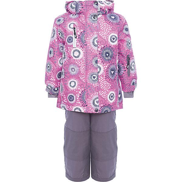 Комплект: куртка и полукомбинезон Sweet Berry для девочкиКомплекты<br>Комплект: куртка и полукомбинезон Sweet Berry для девочки<br>Комфортный и теплый костюм  для девочки из мембранной ткани. В конструкции учтены физиологические особенности малыша. Съемный капюшон на молниях с дополнительной утяжкой, спереди установлены две кнопки.  Рукава с манжетами, регулируются липучкой. На куртке два кармана, застегивающиеся на молнию. Застежка-молния с внешней ветрозащитной планкой. Брюки на регулируемых подтяжках гарантируют посадку по фигуре.  Колени, задняя поверхность бедер и низ брюк дополнительно усилены сверхпрочным материалом. Силиконовые отстегивающиеся штрипки на брючинах. Ткань верха: мембрана 5000мм/5000г/м2/24h, waterproof, водонепроницаемая с грязеотталкивающей пропиткой.<br>Пoдкладка: флис<br>Утеплитель: синтетический утеплитель 220 г/м? (куртка),<br>180 г/м? (рукава, п/комбинезон). Температурный режим: от -35 до +5 С<br>Состав:<br>Верх: куртка: 100%полиэстер, полукомбинезон:  100%нейлон.  Подкладка: 100%полиэстер. Наполнитель: 100%полиэстер<br><br>Ширина мм: 356<br>Глубина мм: 10<br>Высота мм: 245<br>Вес г: 519<br>Цвет: розовый<br>Возраст от месяцев: 18<br>Возраст до месяцев: 24<br>Пол: Женский<br>Возраст: Детский<br>Размер: 92,116,110,104,98<br>SKU: 7094602