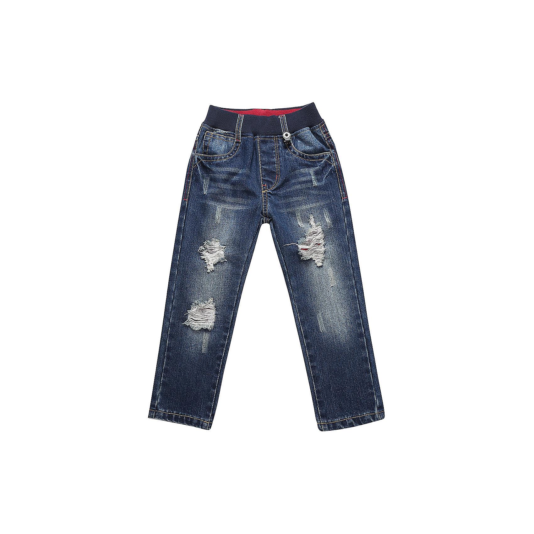 Брюки Sweet Berry для мальчикаДжинсы<br>Брюки Sweet Berry для мальчика<br>Модные джинсовые брюки для мальчика с эффектом рваной джинсы на мягком эластичном поясе.  Прямой крой. Шлевки на поясе рассчитаны под ремень<br>Состав:<br>100% хлопок<br><br>Ширина мм: 215<br>Глубина мм: 88<br>Высота мм: 191<br>Вес г: 336<br>Цвет: синий<br>Возраст от месяцев: 84<br>Возраст до месяцев: 96<br>Пол: Мужской<br>Возраст: Детский<br>Размер: 128,98,104,110,116,122<br>SKU: 7094713