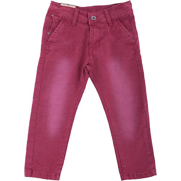 Брюки Sweet Berry для мальчикаДжинсы<br>Брюки Sweet Berry для мальчика<br>Яркие текстильные брюки для мальчика. Застегиваются на молнию и пуговицу. Шлевки на поясе рассчитаны под ремень. В боковой части пояса находятся вшитые эластичные ленты, регулирующие посадку по талии. Зауженный крой, средняя посадка.<br>Состав:<br>97% хлопок, 3% спандекс<br><br>Ширина мм: 215<br>Глубина мм: 88<br>Высота мм: 191<br>Вес г: 336<br>Цвет: бордовый<br>Возраст от месяцев: 48<br>Возраст до месяцев: 60<br>Пол: Мужской<br>Возраст: Детский<br>Размер: 110,104,98,128,122,116<br>SKU: 7094798