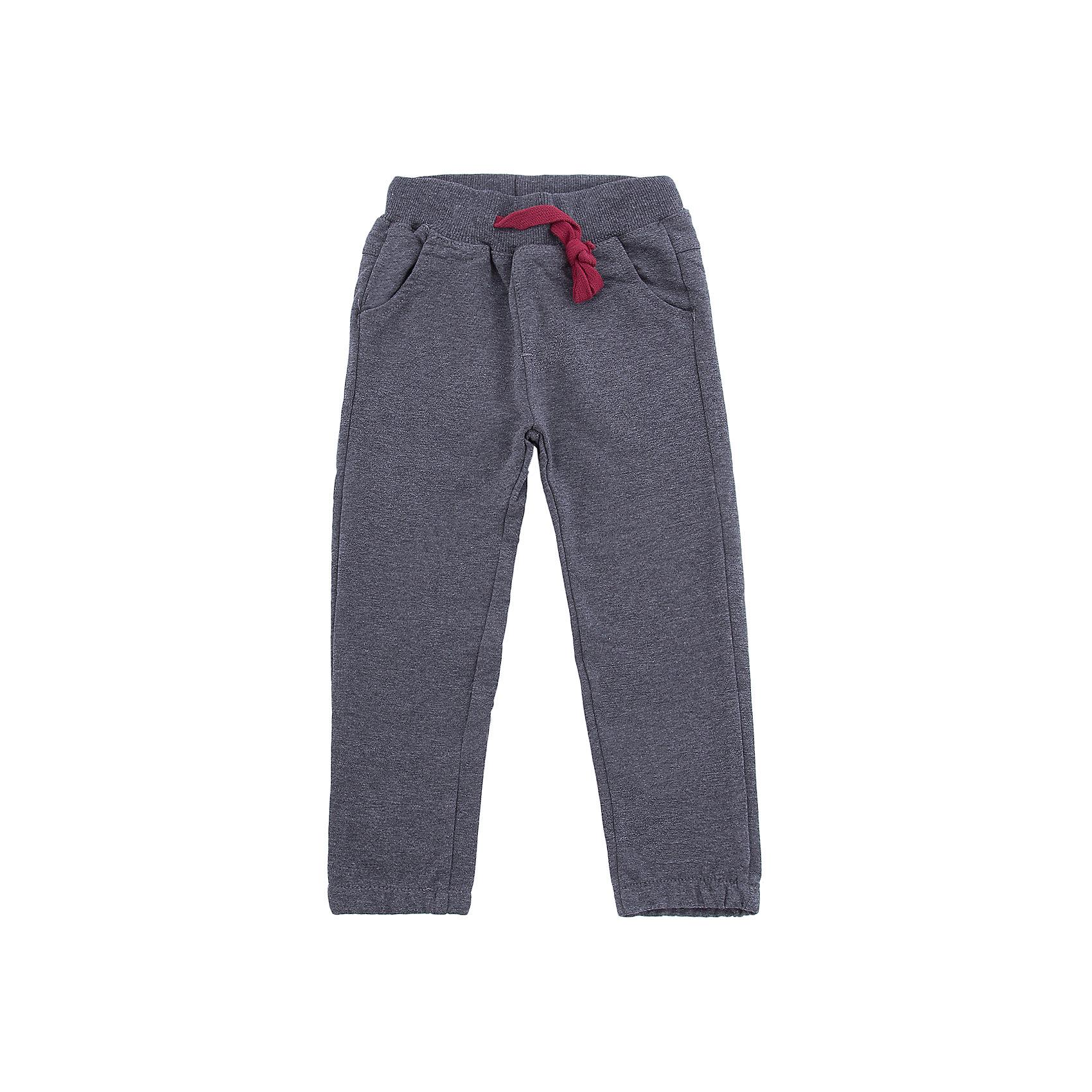 Брюки Sweet Berry для мальчикаБрюки<br>Брюки Sweet Berry для мальчика<br>Трикотажные брюки для мальчика темно-серого цвета, низ брючин собран на мягкую резинку. Пояс-резинка дополнен шнуром для регулирования объема по талии.<br>Состав:<br>95% хлопок, 5% эластан<br><br>Ширина мм: 215<br>Глубина мм: 88<br>Высота мм: 191<br>Вес г: 336<br>Цвет: серый<br>Возраст от месяцев: 24<br>Возраст до месяцев: 36<br>Пол: Мужской<br>Возраст: Детский<br>Размер: 98,104,110,116,122,128<br>SKU: 7094833