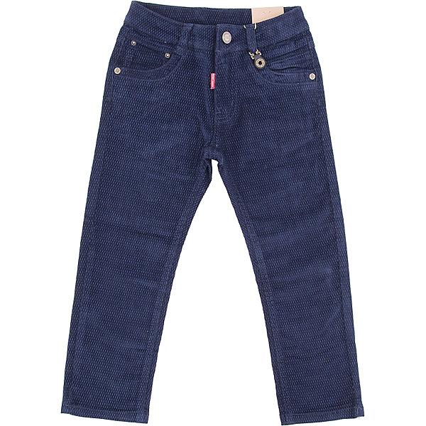 Брюки Sweet Berry для мальчикаБрюки<br>Брюки Sweet Berry для мальчика<br>Стильные вельветовые брюки для мальчика. Прямой крой, средняя посадка. Шлевки на поясе рассчитаны под ремень. В боковой части пояса находятся вшитые эластичные ленты, регулирующие посадку по талии. Средняя посадка.<br>Состав:<br>98% хлопок, 2% спандекс<br><br>Ширина мм: 215<br>Глубина мм: 88<br>Высота мм: 191<br>Вес г: 336<br>Цвет: синий<br>Возраст от месяцев: 24<br>Возраст до месяцев: 36<br>Пол: Мужской<br>Возраст: Детский<br>Размер: 98,128,104,110,116,122<br>SKU: 7094952