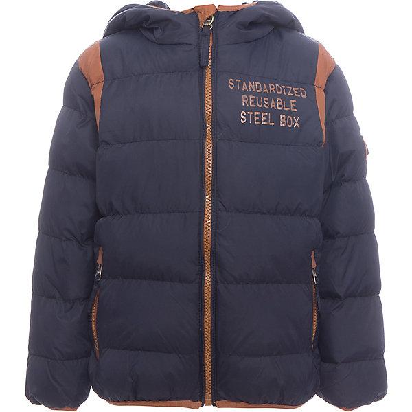 Куртка Sweet Berry для мальчикаВерхняя одежда<br>Куртка Sweet Berry для мальчика<br>Утепленная стеганная куртка для мальчика выполнена из двух контрастных тканей. Несъемный капюшон.  Два прорезных кармана застегивающиеся на молнию. Флисовая подкладка.  Капюшон, рукава и низ изделия оформлены контрастной окантовочной резинкой. Куртка застегивается на молнию.<br>Состав:<br>Верх: 100% нейлон Подкладка: 100% полиэстер Наполнитель 100% полиэстер<br><br>Ширина мм: 356<br>Глубина мм: 10<br>Высота мм: 245<br>Вес г: 519<br>Цвет: синий<br>Возраст от месяцев: 60<br>Возраст до месяцев: 72<br>Пол: Мужской<br>Возраст: Детский<br>Размер: 116,128,122,110,104,98<br>SKU: 7094991