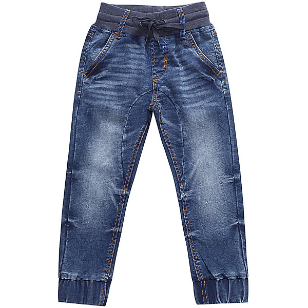 Брюки Sweet Berry для мальчикаДжинсовая одежда<br>Характеристики товара:<br><br>• цвет: синий;<br>• состав материала: 98% хлопок, 2% спандекс;<br>• сезон: демисезон;<br>• пояс на резинке с дополнительным шнурком;<br>• наличие шлевок для ремня;<br>• низ брючин на манжетах;<br>• карманы;<br>• страна бренда: Россия;<br>• страна производства: Китай.<br><br>Джинсовые брюки для мальчика с мягким эластичным пояс и шнуром для регулирования объема по талии. Низ брючин собран на мягкие манжеты. Средняя посадка.<br><br>Джинсы Sweet Berry (Свит Берри) для мальчика можно купить в нашем интернет-магазине.<br>Ширина мм: 215; Глубина мм: 88; Высота мм: 191; Вес г: 336; Цвет: синий; Возраст от месяцев: 24; Возраст до месяцев: 36; Пол: Мужской; Возраст: Детский; Размер: 98,128,122,116,110,104; SKU: 7095012;