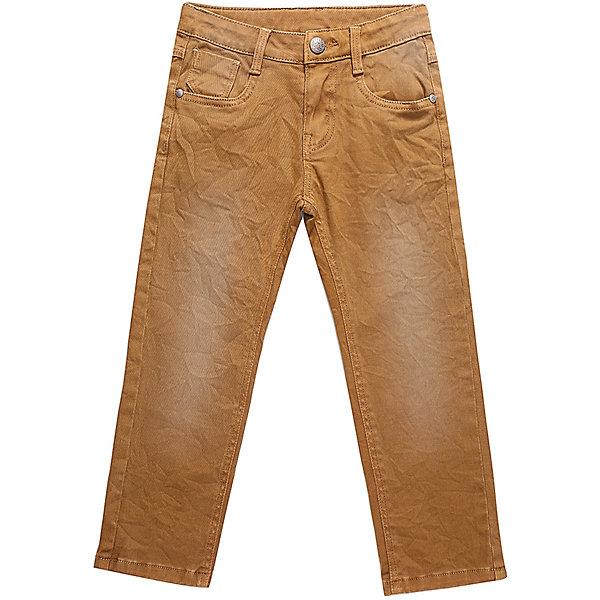 Брюки Sweet Berry для мальчикаДжинсы<br>Брюки Sweet Berry для мальчика<br>Яркие джинсовый брюки для мальчика с оригинальной варкой. Прямой крой, средняя посадка. Застегиваются на молнию и пуговицу. Шлевки на поясе рассчитаны под ремень. В боковой части пояса находятся вшитые эластичные ленты, регулирующие посадку по талии.<br>Состав:<br>98% хлопок, 2% спандекс<br><br>Ширина мм: 215<br>Глубина мм: 88<br>Высота мм: 191<br>Вес г: 336<br>Цвет: оранжевый<br>Возраст от месяцев: 84<br>Возраст до месяцев: 96<br>Пол: Мужской<br>Возраст: Детский<br>Размер: 128,98,104,110,116,122<br>SKU: 7095019