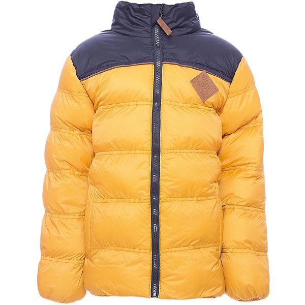 Куртка Luminoso для мальчикаВерхняя одежда<br>Характеристики товара:<br><br>• цвет: желтый;<br>• состав ткани: 100% нейлон;<br>• подкладка: 100% полиэстер, флис;<br>• утеплитель: 100% полиэстер, синтепух;<br>• сезон: зима;<br>• температурный режим: от 0 до -15С;<br>• застежка: молния с защитой подбородка;<br>• куртка без капюшона;<br>• мягкие эластичные манжеты;<br>• два кармана на молнии;<br>• страна бренда: Россия;<br>• страна изготовитель: Китай.<br><br>Куртка для мальчика утепленная, на флисовой подкладке, выполнена из ткани двух цветов, что отвечает последним тенденциям детской моды. Куртка на молнии дополнена двумя боковыми карманами, которые застегиваются на молнию.<br><br>Куртку Luminoso (Люминозо) для мальчика можно купить в нашем интернет-магазине.<br>Ширина мм: 356; Глубина мм: 10; Высота мм: 245; Вес г: 519; Цвет: желтый; Возраст от месяцев: 96; Возраст до месяцев: 108; Пол: Мужской; Возраст: Детский; Размер: 134,164,158,152,146,140; SKU: 7095284;