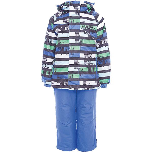 Комплект: куртка и брюки Sweet Berry для мальчикаКомплекты<br>Комплект: куртка и брюки Sweet Berry для мальчика<br>Комфортный и теплый костюм  для девочки из мембранной ткани. В конструкции учтены физиологические особенности малыша. Съемный капюшон на молнии с дополнительной утяжкой, спереди установлены две кнопки.  Рукава с манжетами, регулируются липучкой.  Два кармана, застегивающиеся на молнию. Застежка-молния с внешней ветрозащитной планкой.  Брюки на регулируемых эластичных лямках. По бокам брюк расположены карманы на молниях. Штанины внизу затягиваются липучками. Ткань верха: мембрана 3000мм/3000г/м2/24h, waterproof, водонепроницаемая с грязеотталкивающей пропиткой.<br>Пoдкладка: мягкая трикотажная ткань с ворсом.<br>Утеплитель: Синтепух 80 г/м? (куртка),<br>60 г/м? (рукава, п/комбинезон). Температурный режим: от -0 до +10 С<br>Состав:<br>Верх: куртка: 100%полиэстер, брюки: 100%нейлон.  Подкладка: 100%полиэстер. Наполнитель: 100%полиэстер<br><br>Ширина мм: 356<br>Глубина мм: 10<br>Высота мм: 245<br>Вес г: 519<br>Цвет: синий<br>Возраст от месяцев: 24<br>Возраст до месяцев: 36<br>Пол: Мужской<br>Возраст: Детский<br>Размер: 98,140,134,128,122,116,110,104<br>SKU: 7095306