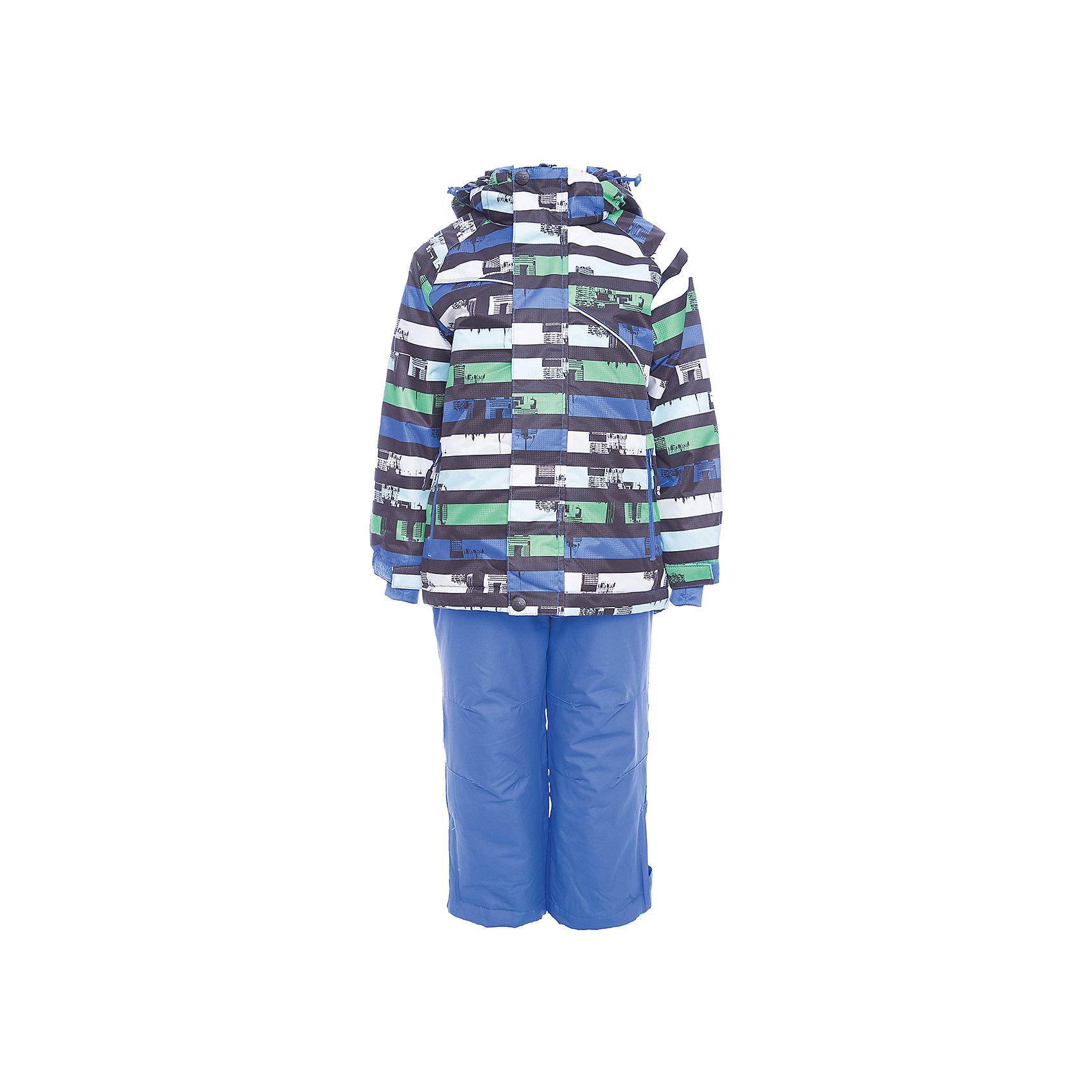 Комплект: куртка и брюки Sweet Berry для мальчикаВерхняя одежда<br>Комплект: куртка и брюки Sweet Berry для мальчика<br>Комфортный и теплый костюм  для девочки из мембранной ткани. В конструкции учтены физиологические особенности малыша. Съемный капюшон на молнии с дополнительной утяжкой, спереди установлены две кнопки.  Рукава с манжетами, регулируются липучкой.  Два кармана, застегивающиеся на молнию. Застежка-молния с внешней ветрозащитной планкой.  Брюки на регулируемых эластичных лямках. По бокам брюк расположены карманы на молниях. Штанины внизу затягиваются липучками. Ткань верха: мембрана 3000мм/3000г/м2/24h, waterproof, водонепроницаемая с грязеотталкивающей пропиткой.<br>Пoдкладка: мягкая трикотажная ткань с ворсом.<br>Утеплитель: Синтепух 80 г/м? (куртка),<br>60 г/м? (рукава, п/комбинезон). Температурный режим: от -0 до +10 С<br>Состав:<br>Верх: куртка: 100%полиэстер, брюки: 100%нейлон.  Подкладка: 100%полиэстер. Наполнитель: 100%полиэстер<br><br>Ширина мм: 356<br>Глубина мм: 10<br>Высота мм: 245<br>Вес г: 519<br>Цвет: синий<br>Возраст от месяцев: 108<br>Возраст до месяцев: 120<br>Пол: Мужской<br>Возраст: Детский<br>Размер: 140,98,104,110,116,122,128,134<br>SKU: 7095306