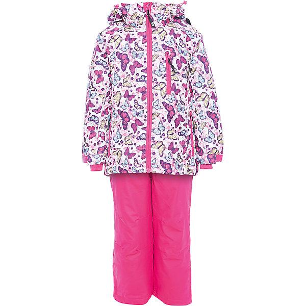 Комплект: куртка и брюки Sweet Berry для девочкиВерхняя одежда<br>Характеристики товара:<br><br>• цвет: розовый;<br>• ткань верха: верх 100% полиэстер, штанины 100% нейлон;<br>• подкладка: 100% полиэстер, трикотаж с ворсом;<br>• наполнитель: 100% полиэстер;<br>• утеплитель: синтепух куртка 80 г/м?, брюки 60 г/м? ;<br>• сезон: демисезон<br>• температурный режим: от 0 до +10С;<br>• водонепроницаемость: 3000 мм;<br>• воздухопропускаемость: 3000г/м2;<br>• особенности модели: с капюшоном;<br>• капюшон: съемный, без меха;<br>• застежка: молния с защитой подбородка;<br>• капюшон с дополнительной утяжкой;<br>• рукава с манжетами на липучках;<br>• два кармана на молнии;<br>• ветрозащитная планка;<br>• регулируемые лямки на брюках;<br>• низ штанин на липучках;<br>• страна бренда: Россия;<br>• страна производства: Китай.<br><br>Комфортный и теплый костюм для девочки из мембранной ткани. В конструкции учтены физиологические особенности малыша. Съемный капюшон на молнии с дополнительной утяжкой, спереди установлены две кнопки. Рукава с манжетами, регулируются липучкой. Два кармана, застегивающиеся на молнию. Застежка-молния с внешней ветрозащитной планкой. <br><br>Брюки на регулируемых эластичных лямках. По бокам брюк расположены карманы на молниях. Штанины внизу затягиваются липучками. Ткань верха: мембрана 3000мм/3000г/м2/24h, waterproof, водонепроницаемая с грязеотталкивающей пропиткой. Пoдкладка: мягкая трикотажная ткань с ворсом.<br><br>Комбинезон Sweet Berry (Свит Берри) для девочки можно купить в нашем интернет-магазине.<br>Ширина мм: 356; Глубина мм: 10; Высота мм: 245; Вес г: 519; Цвет: розовый; Возраст от месяцев: 24; Возраст до месяцев: 36; Пол: Женский; Возраст: Детский; Размер: 104,140,134,128,122,116,110,98; SKU: 7095322;