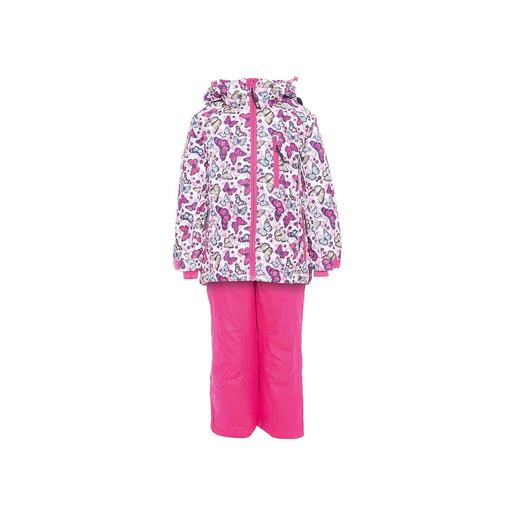 Комплект: куртка и брюки Sweet Berry для девочкиВерхняя одежда<br>Комплект: куртка и брюки Sweet Berry для девочки<br>Комфортный и теплый костюм  для девочки из мембранной ткани. В конструкции учтены физиологические особенности малыша. Съемный капюшон на молнии с дополнительной утяжкой, спереди установлены две кнопки.  Рукава с манжетами, регулируются липучкой.  Два кармана, застегивающиеся на молнию. Застежка-молния с внешней ветрозащитной планкой.  Брюки на регулируемых эластичных лямках. По бокам брюк расположены карманы на молниях. Штанины внизу затягиваются липучками. Ткань верха: мембрана 3000мм/3000г/м2/24h, waterproof, водонепроницаемая с грязеотталкивающей пропиткой.<br>Пoдкладка: мягкая трикотажная ткань с ворсом.<br>Утеплитель: Синтепух 80 г/м? (куртка),<br>60 г/м? (рукава, п/комбинезон). Температурный режим: от -0 до +10 С<br>Состав:<br>Верх: куртка: 100%полиэстер, брюки: 100%нейлон.  Подкладка: 100%полиэстер. Наполнитель: 100%полиэстер<br><br>Ширина мм: 356<br>Глубина мм: 10<br>Высота мм: 245<br>Вес г: 519<br>Цвет: розовый<br>Возраст от месяцев: 24<br>Возраст до месяцев: 36<br>Пол: Женский<br>Возраст: Детский<br>Размер: 98,140,134,128,122,116,110,104<br>SKU: 7095322