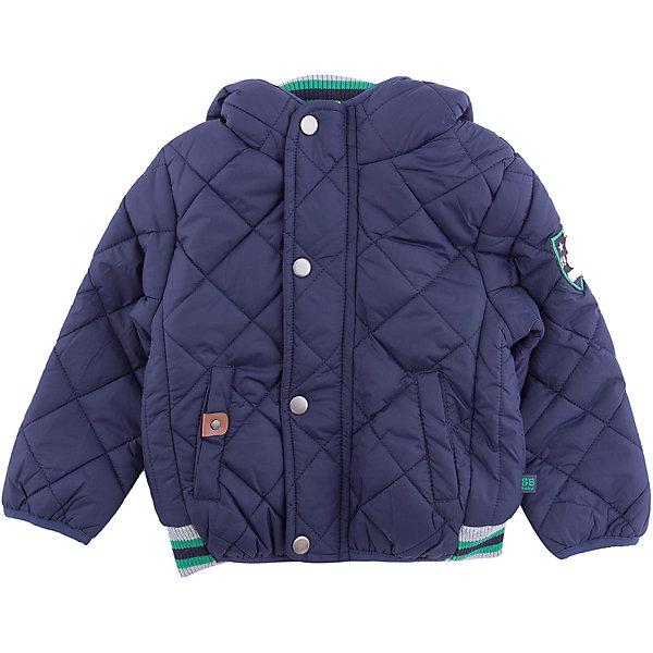 Куртка Sweet Berry для мальчикаВерхняя одежда<br>Куртка Sweet Berry для мальчика<br>Стильная утепленная стеганая куртка для мальчика. Флисовая подкладка. Несъемный капюшон.  Застегивается на молнию с ветрозащитной планкой. Низ куртки собран на мягкую резинку.<br>Состав:<br>Верх: 100% нейлон Подкладка: 100% полиэстер Наполнитель 100% полиэстер<br><br>Ширина мм: 356<br>Глубина мм: 10<br>Высота мм: 245<br>Вес г: 519<br>Цвет: синий<br>Возраст от месяцев: 24<br>Возраст до месяцев: 36<br>Пол: Мужской<br>Возраст: Детский<br>Размер: 98,80,86,92<br>SKU: 7095334