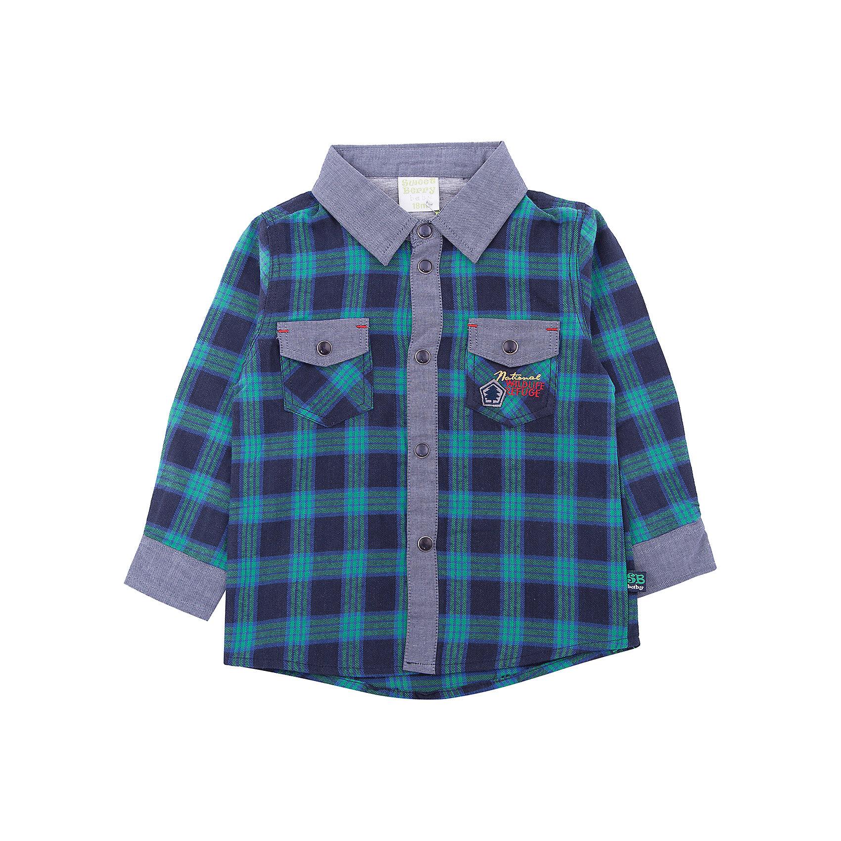 Рубашка Sweet Berry для мальчикаБлузки и рубашки<br>Рубашка Sweet Berry для мальчика<br>Стильная хлопковая рубашка из байковой ткани в клетку с двумя накладными карманами. Длинный рукав. Воротничок, манжеты рукавов и застежка декорированы контрастной тканью. Застегивается на кнопки. Отложной воротничок.<br>Состав:<br>100% хлопок<br><br>Ширина мм: 174<br>Глубина мм: 10<br>Высота мм: 169<br>Вес г: 157<br>Цвет: зеленый<br>Возраст от месяцев: 24<br>Возраст до месяцев: 36<br>Пол: Мужской<br>Возраст: Детский<br>Размер: 98,80,86,92<br>SKU: 7095374