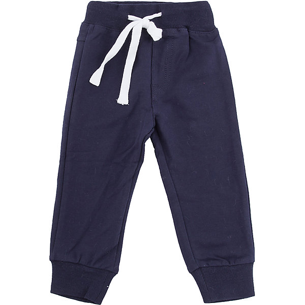 Брюки Sweet Berry для мальчикаБрюки<br>Брюки Sweet Berry для мальчика<br>Трикотажные брюки для мальчика темно-синего цвета, низ брючин собран на мягкие манжеты. Пояс-резинка дополнен шнуром для регулирования объема по талии.<br>Состав:<br>95% хлопок, 5% эластан<br><br>Ширина мм: 215<br>Глубина мм: 88<br>Высота мм: 191<br>Вес г: 336<br>Цвет: синий<br>Возраст от месяцев: 12<br>Возраст до месяцев: 15<br>Пол: Мужской<br>Возраст: Детский<br>Размер: 80,98,92,86<br>SKU: 7095514
