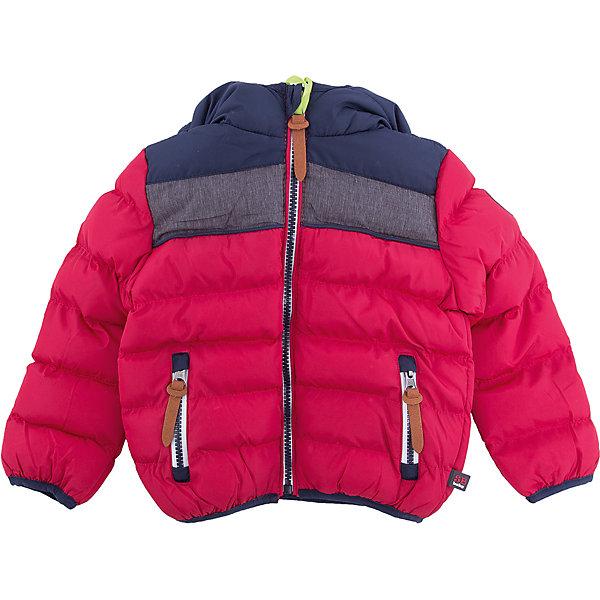 Куртка Sweet Berry для мальчикаВерхняя одежда<br>Куртка Sweet Berry для мальчика<br>Утепленная стеганная куртка выполнена из трех контрастных цветов. Несъемный капюшон.  Два прорезных кармана застегивающиеся на молнию. Флисовая подкладка.  Капюшон, рукава и низ изделия оформлены контрастной окантовочной резинкой. Куртка застегивается на молнию.<br>Состав:<br>Верх: 100% полиэстер Подкладка: 100% полиэстер Наполнитель 100% полиэстер<br><br>Ширина мм: 356<br>Глубина мм: 10<br>Высота мм: 245<br>Вес г: 519<br>Цвет: бордовый<br>Возраст от месяцев: 12<br>Возраст до месяцев: 15<br>Пол: Мужской<br>Возраст: Детский<br>Размер: 80,86,92,98<br>SKU: 7095554