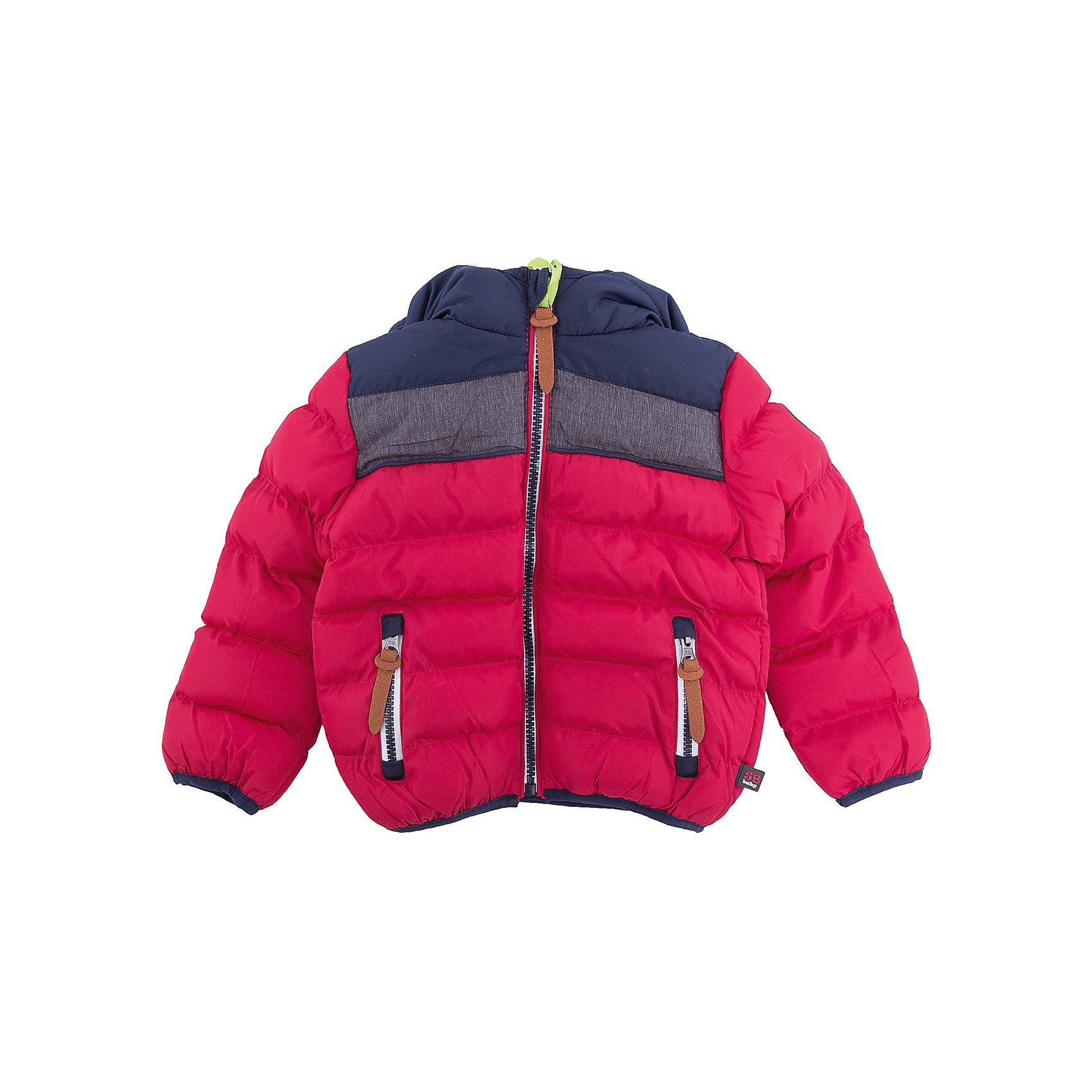 Куртка Sweet Berry для мальчикаВерхняя одежда<br>Куртка Sweet Berry для мальчика<br>Утепленная стеганная куртка выполнена из трех контрастных цветов. Несъемный капюшон.  Два прорезных кармана застегивающиеся на молнию. Флисовая подкладка.  Капюшон, рукава и низ изделия оформлены контрастной окантовочной резинкой. Куртка застегивается на молнию.<br>Состав:<br>Верх: 100% полиэстер Подкладка: 100% полиэстер Наполнитель 100% полиэстер<br><br>Ширина мм: 356<br>Глубина мм: 10<br>Высота мм: 245<br>Вес г: 519<br>Цвет: бордовый<br>Возраст от месяцев: 12<br>Возраст до месяцев: 15<br>Пол: Мужской<br>Возраст: Детский<br>Размер: 80,98,92,86<br>SKU: 7095554