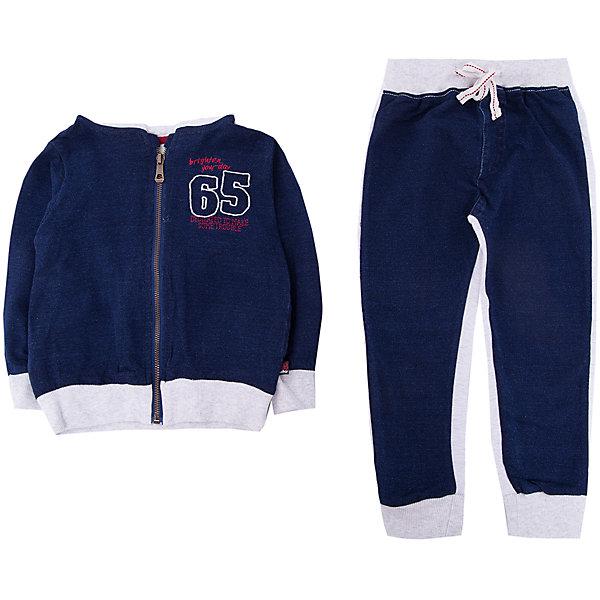 Комплект: толстовка и брюки Sweet Berry для мальчикаКомплекты<br>Характеристики товара:<br><br>• цвет: синий<br>• комплектация: толстовка и брюки<br>• состав материала: 95% хлопок, 5% эластан<br>• сезон: демисезон<br>• особенности модели: спортивный стиль<br>• застежка: молния<br>• длинные рукава<br>• пояс: резинка, шнурок<br>• страна бренда: Россия<br>• страна производства: Китай<br><br>Спортивный костюм для мальчика - толстовка и брюки - дополнен мягкими манжетами. Детские брюки комфортно сидят благодаря мягкой резинке и шнурку в поясе. Толстовка для ребенка дополнена капюшоном. Спортивная одежда для детей от Sweet Berry учитывает потребности ребенка. <br><br>Комплект: толстовка и брюки Sweet Berry (Свит Берри) для мальчика можно купить в нашем интернет-магазине.<br>Ширина мм: 190; Глубина мм: 74; Высота мм: 229; Вес г: 236; Цвет: синий; Возраст от месяцев: 24; Возраст до месяцев: 36; Пол: Мужской; Возраст: Детский; Размер: 98,80,86,92; SKU: 7095604;