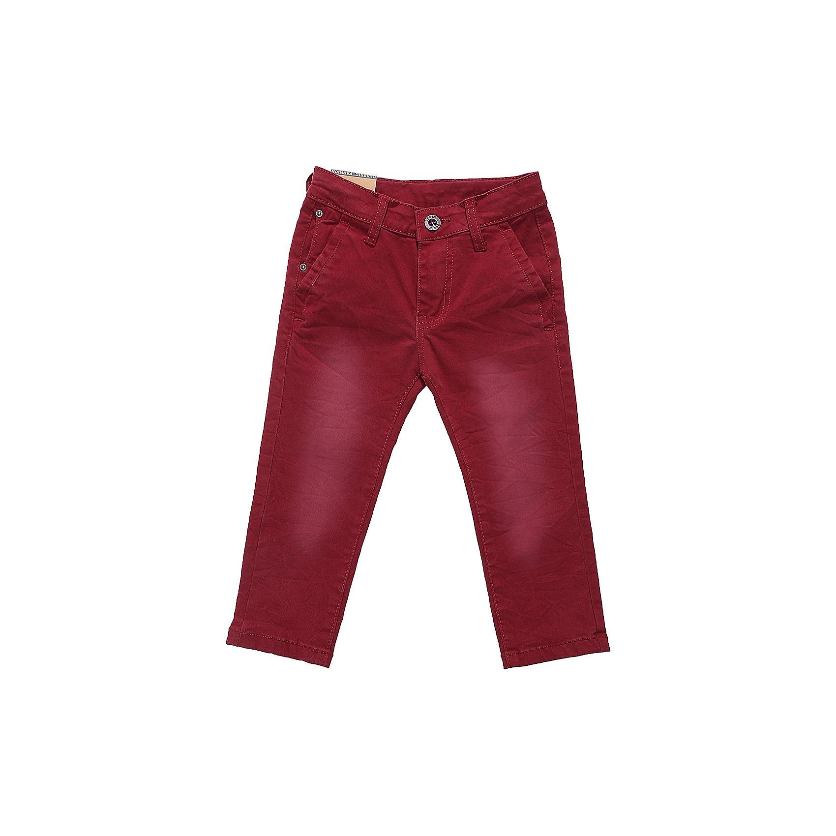 Брюки Sweet Berry для мальчикаДжинсовая одежда<br>Брюки Sweet Berry для мальчика<br>Яркие текстильные брюки для мальчика. Зауженный крой, средняя посадка. Застегиваются на молнию и пуговицу. Шлевки на поясе рассчитаны под ремень. В боковой части пояса находятся вшитые эластичные ленты, регулирующие посадку по талии.<br>Состав:<br>97% хлопок, 3% спандекс<br><br>Ширина мм: 215<br>Глубина мм: 88<br>Высота мм: 191<br>Вес г: 336<br>Цвет: бордовый<br>Возраст от месяцев: 24<br>Возраст до месяцев: 36<br>Пол: Мужской<br>Возраст: Детский<br>Размер: 98,80,86,92<br>SKU: 7095624