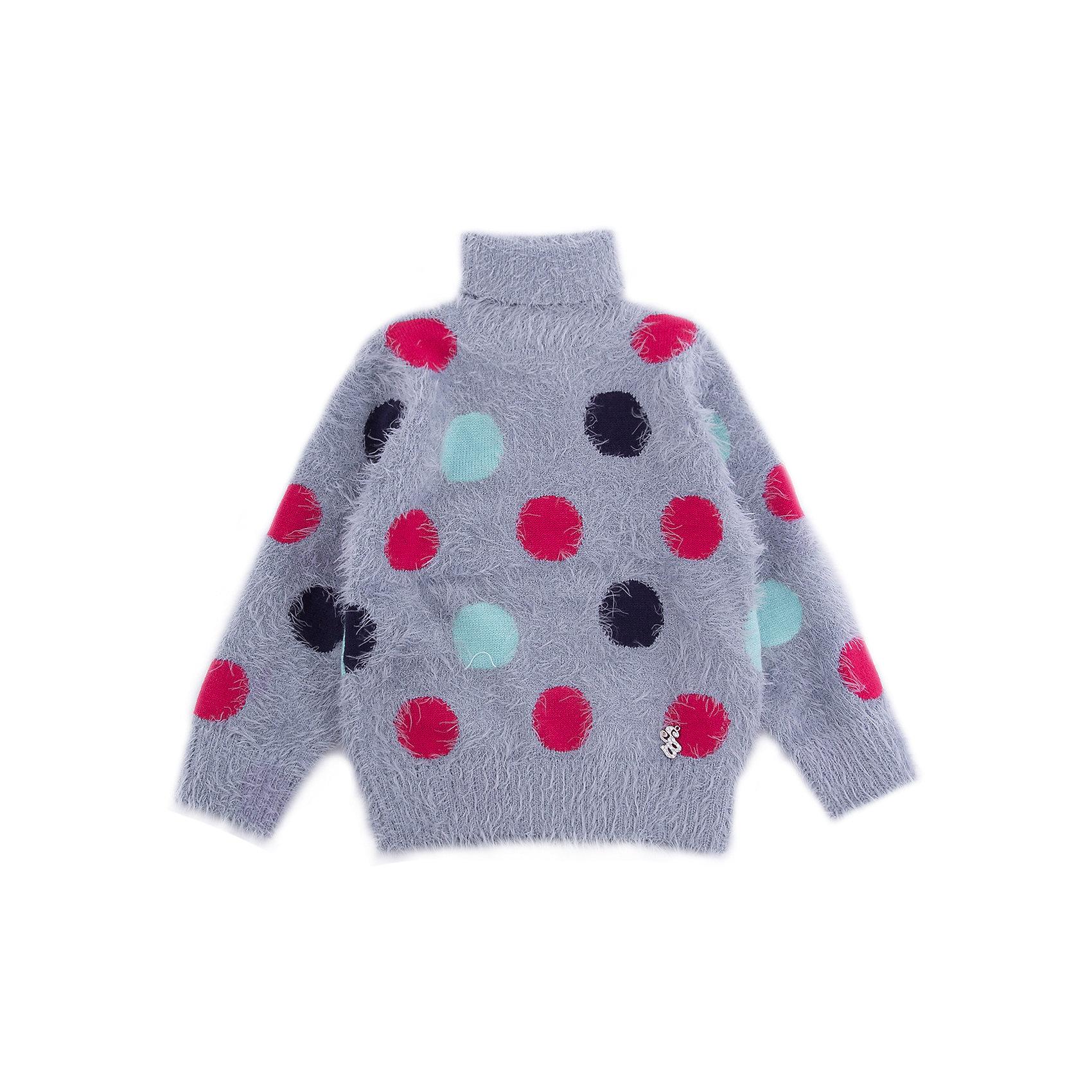 Свитер Sweet Berry для девочкиСвитера и кардиганы<br>Свитер Sweet Berry для девочки<br>Мягкий свитер для девочки из ворсовой пряжи травка серого цвета с воротником- стойкой декорированный ярким вязанным горошком.<br>Состав:<br>60% нейлон, 40% акрил<br><br>Ширина мм: 190<br>Глубина мм: 74<br>Высота мм: 229<br>Вес г: 236<br>Цвет: серый<br>Возраст от месяцев: 24<br>Возраст до месяцев: 36<br>Пол: Женский<br>Возраст: Детский<br>Размер: 98,80,86,92<br>SKU: 7095654