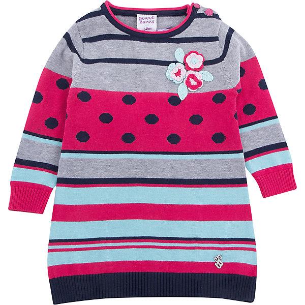 Платье Sweet Berry для девочкиПлатья<br>Платье Sweet Berry для девочки<br>Оригинальное платье из вязанного трикотажа для девочки декорированное цветочной вышивкой. Застежка на пуговках на плечевом шве.<br>Состав:<br>100% хлопок<br><br>Ширина мм: 236<br>Глубина мм: 16<br>Высота мм: 184<br>Вес г: 177<br>Цвет: серый<br>Возраст от месяцев: 12<br>Возраст до месяцев: 15<br>Пол: Женский<br>Возраст: Детский<br>Размер: 80,98,92,86<br>SKU: 7095664