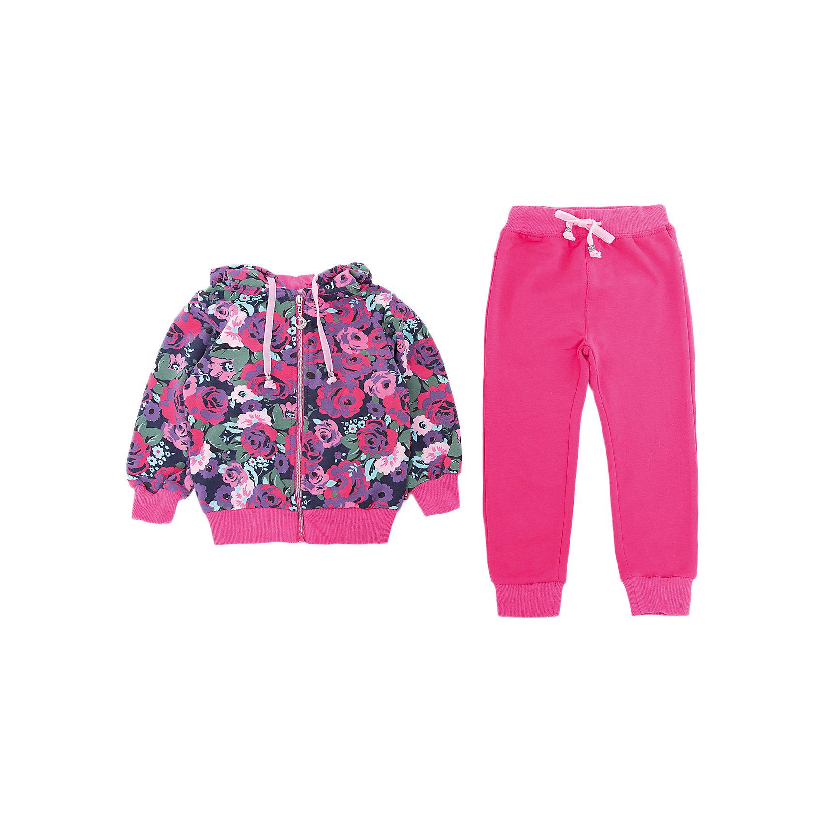 Комплект: толстовка и брюки Sweet Berry для девочкиКомплекты<br>Комплект: толстовка и брюки Sweet Berry для девочки<br>Трикотажный спортивный костюм для девочки. Куртка выполнена из принтованой ткани, застегивается на молнию. Брюки спортивного стиля с зауженным низом собранные на мягкие манжеты. Пояс-резинка дополнен шнуром для регулирования объема по талии.<br>Состав:<br>95% хлопок, 5% эластан<br><br>Ширина мм: 190<br>Глубина мм: 74<br>Высота мм: 229<br>Вес г: 236<br>Цвет: розовый<br>Возраст от месяцев: 24<br>Возраст до месяцев: 36<br>Пол: Женский<br>Возраст: Детский<br>Размер: 98,80,86,92<br>SKU: 7095719