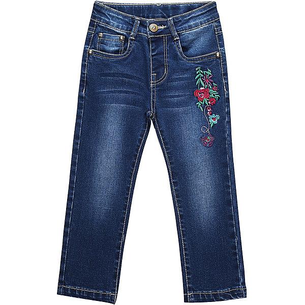 Брюки Sweet Berry для девочкиДжинсы и брючки<br>Брюки Sweet Berry для девочки<br>Джинсовые брюки для девочки, декорированные цветочной вышивкой. Прямой крой, средняя посадка. Застегиваются на молнию и пуговицу. Шлевки на поясе рассчитаны под ремень. В боковой части пояса находятся вшитые эластичные ленты, регулирующие посадку по талии.<br>Состав:<br>98% хлопок, 2% спандекс<br><br>Ширина мм: 215<br>Глубина мм: 88<br>Высота мм: 191<br>Вес г: 336<br>Цвет: синий<br>Возраст от месяцев: 18<br>Возраст до месяцев: 24<br>Пол: Женский<br>Возраст: Детский<br>Размер: 92,98,86,80<br>SKU: 7095729