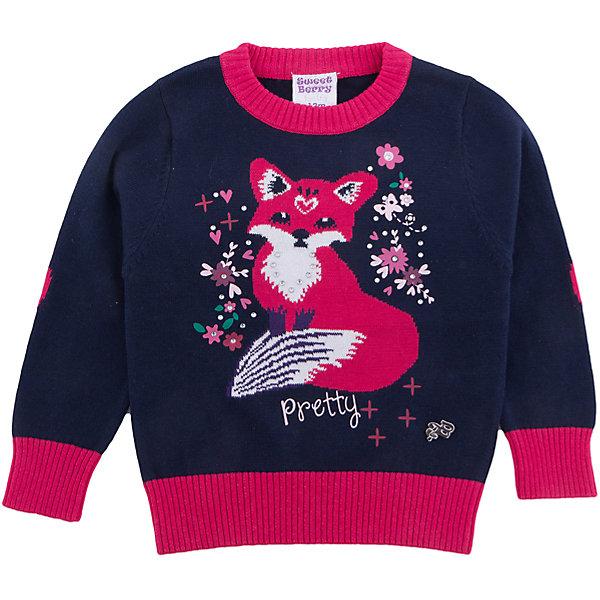 Джемпер Sweet Berry для девочкиТолстовки, свитера, кардиганы<br>Джемпер Sweet Berry для девочки<br>Стильный вязанный джемпер для девочки из хлопковой пряжи с жаккардовым рисунком лисичка. Горловина, манжеты рукавов и  низ изделия выделены контрастной вязкой.<br>Состав:<br>100% хлопок<br><br>Ширина мм: 190<br>Глубина мм: 74<br>Высота мм: 229<br>Вес г: 236<br>Цвет: синий<br>Возраст от месяцев: 12<br>Возраст до месяцев: 15<br>Пол: Женский<br>Возраст: Детский<br>Размер: 80,98,92,86<br>SKU: 7095744