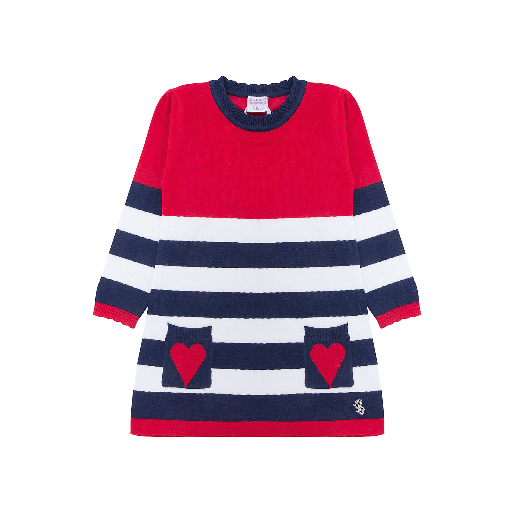 Платье Sweet Berry для девочкиПлатья<br>Платье Sweet Berry для девочки<br>Милое платье для девочки из вязанного трикотажа декорированное двумя накладными кармашками.<br>Состав:<br>70% хлопок, 30% нейлон<br><br>Ширина мм: 236<br>Глубина мм: 16<br>Высота мм: 184<br>Вес г: 177<br>Цвет: красный<br>Возраст от месяцев: 24<br>Возраст до месяцев: 36<br>Пол: Женский<br>Возраст: Детский<br>Размер: 98,80,86,92<br>SKU: 7095754