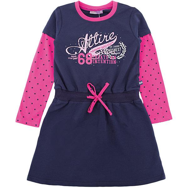 Платье Sweet Berry для девочкиОсенне-зимние платья и сарафаны<br>Характеристики товара:<br><br>• цвет: синий<br>• состав: 95% хлопок, 5% эластан<br>• сезон: демисезон<br>• пояс: шнурок<br>• длинные рукава<br>• страна бренда: Россия<br>• страна производства: Китай<br><br>Это детское платье отлично подходит для ношения в теплую и прохладную погоду. Трикотажное платье для девочки отличается оригинальным дизайном. Платье для девочки легко надевается благодаря мягкому эластичному трикотажу. <br><br>Платье Sweet Berry (Свит Берри) для девочки можно купить в нашем интернет-магазине.<br>Ширина мм: 236; Глубина мм: 16; Высота мм: 184; Вес г: 177; Цвет: синий; Возраст от месяцев: 24; Возраст до месяцев: 36; Пол: Женский; Возраст: Детский; Размер: 98,128,122,116,110,104; SKU: 7096565;