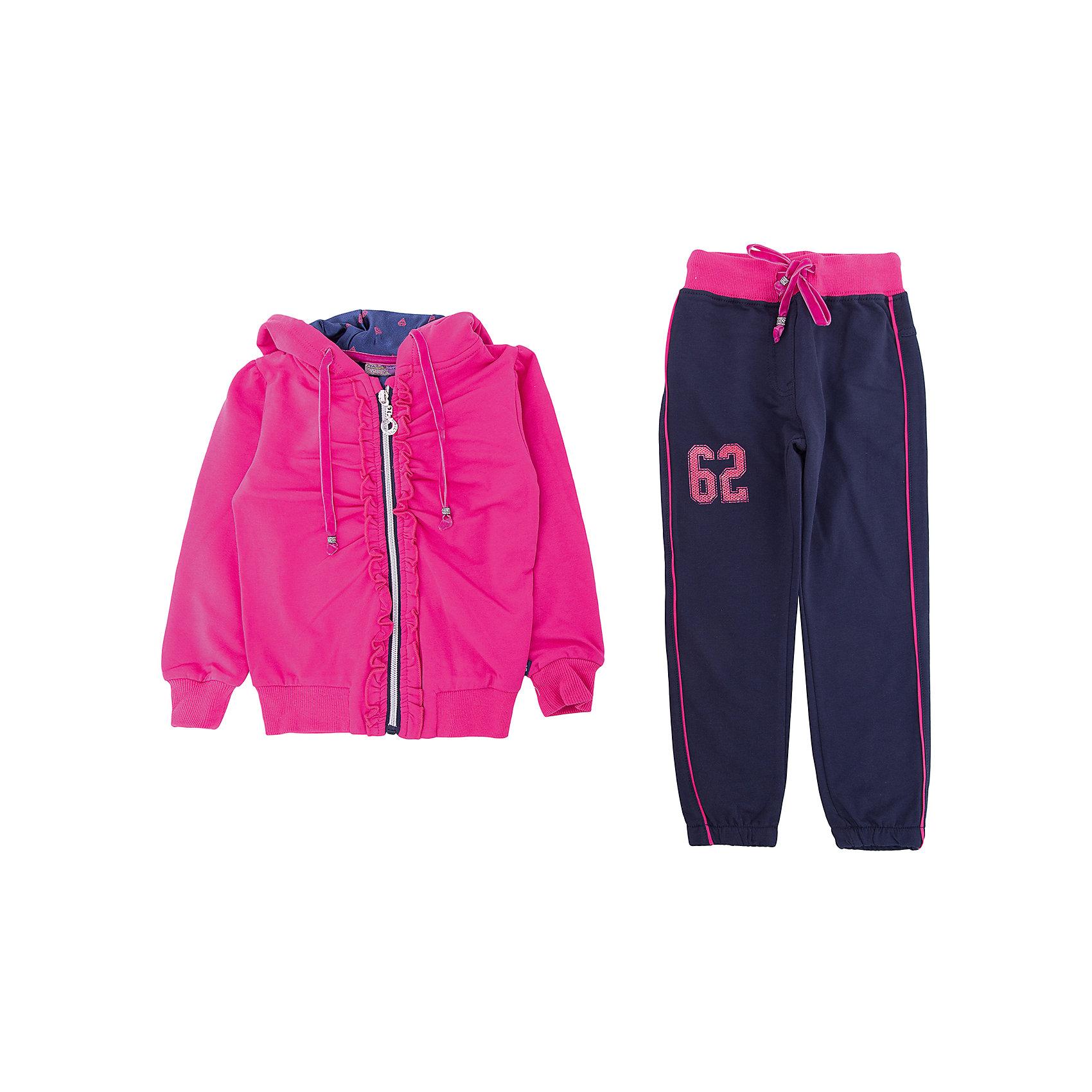 Комплект: толстовка и брюки Sweet Berry для девочкиКомплекты<br>Комплект: толстовка и брюки Sweet Berry для девочки<br><br>Состав:<br>95% хлопок, 5% эластан<br><br>Ширина мм: 356<br>Глубина мм: 10<br>Высота мм: 245<br>Вес г: 519<br>Цвет: розовый<br>Возраст от месяцев: 84<br>Возраст до месяцев: 96<br>Пол: Женский<br>Возраст: Детский<br>Размер: 128,98,104,110,116,122<br>SKU: 7096586