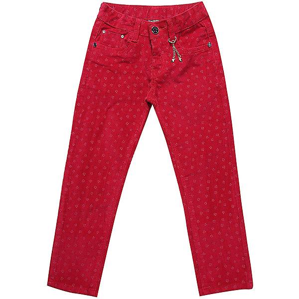 Брюки Sweet Berry для девочкиДжинсовая одежда<br>Характеристики товара:<br><br>• цвет: красный<br>• состав: 98% хлопок, 2% спандекс<br>• сезон: демисезон<br>• застежка: пуговица, молния<br>• декор: подвеска<br>• шлевки<br>• страна бренда: Россия<br>• страна производства: Китай<br><br>Детские брюки помогут создать ребенку комфорт. Стильные брюки для ребенка сделаны из плотного дышащего материала. Такие брюки для детей от Sweet Berry стильно смотрится благодаря яркому цвету.<br><br>Брюки Sweet Berry (Свит Берри) для девочки можно купить в нашем интернет-магазине.<br><br>Ширина мм: 215<br>Глубина мм: 88<br>Высота мм: 191<br>Вес г: 336<br>Цвет: красный<br>Возраст от месяцев: 36<br>Возраст до месяцев: 48<br>Пол: Женский<br>Возраст: Детский<br>Размер: 104,98,128,122,116,110<br>SKU: 7096809