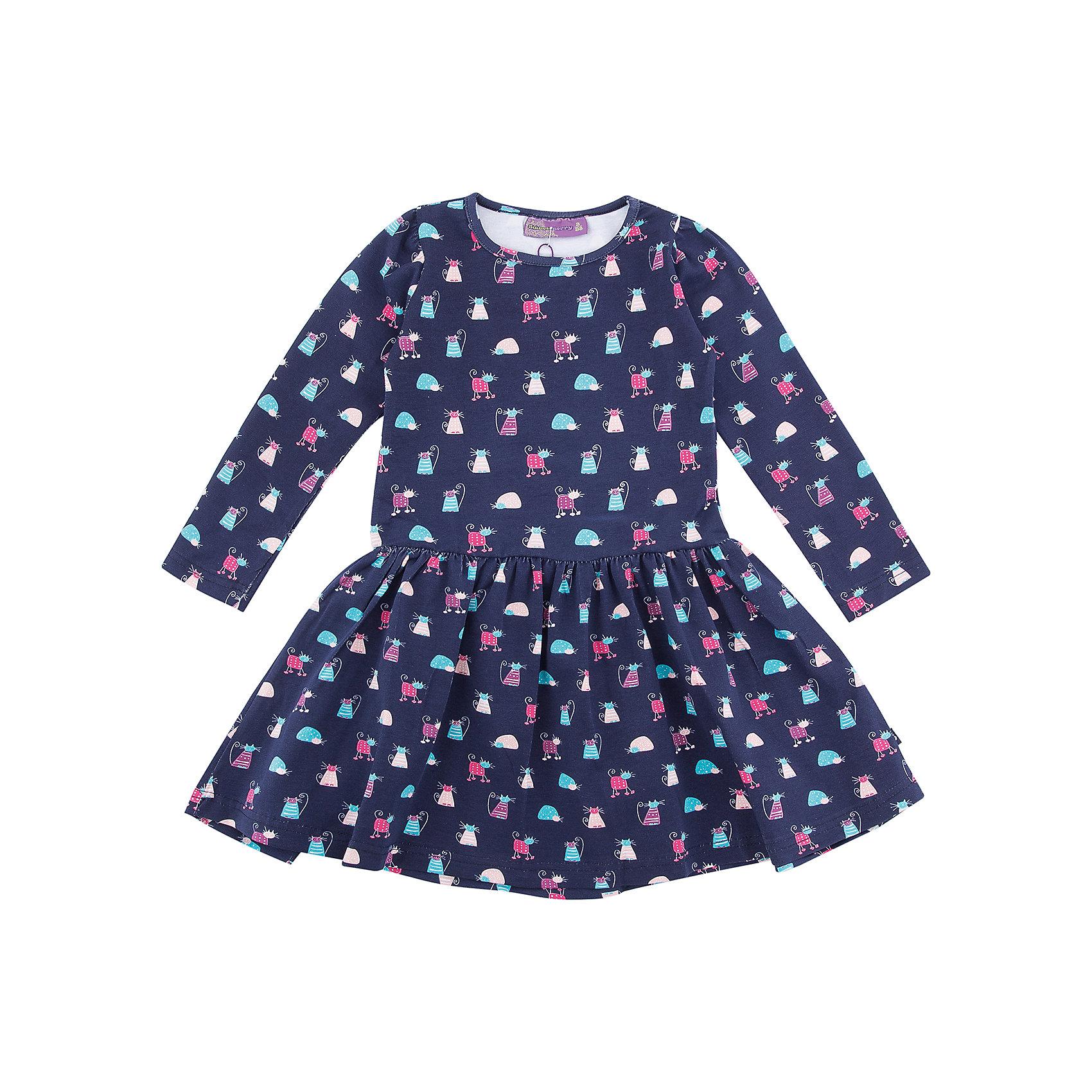 Платье Sweet Berry для девочкиПлатья и сарафаны<br>Характеристики товара:<br><br>• цвет: синий<br>• состав: 95% хлопок, 5% лайкра<br>• сезон: демисезон<br>• длинные рукава <br>• страна бренда: Россия<br>• страна производства: Китай<br><br>Это платье для девочки сделано из мягкого дышащего материала. Удобное платье Sweet Berry для девочки отличается оригинальным принтом. В таком детском платье ребенок будет выглядеть аккуратно и чувствовать себя комфортно.<br><br>Платье Sweet Berry (Свит Берри) для девочки можно купить в нашем интернет-магазине.<br><br>Ширина мм: 236<br>Глубина мм: 16<br>Высота мм: 184<br>Вес г: 177<br>Цвет: синий<br>Возраст от месяцев: 24<br>Возраст до месяцев: 36<br>Пол: Женский<br>Возраст: Детский<br>Размер: 98,128,122,116,110,104<br>SKU: 7096879