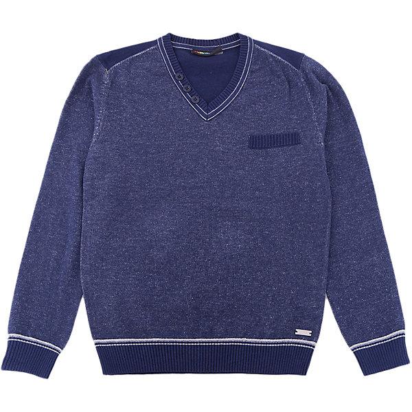 Джемпер Luminoso для мальчикаСвитера и кардиганы<br>Характеристики товара:<br><br>• цвет: синий<br>• состав: 60% хлопок, 40% акрил<br>• сезон: демисезон<br>• длинные рукава<br>• декор: металлический логотип, пуговицы<br>• страна бренда: Россия<br>• страна производства: Китай<br><br>Джемпер для ребенка сделан из мягкого качественного материала. Детский джемпер легко надевается благодаря глубокому вырезу. Джемпер Luminoso для детей оригинально и модно смотрится. <br><br>Джемпер Luminoso (Люминозо) для мальчика можно купить в нашем интернет-магазине.<br><br>Ширина мм: 190<br>Глубина мм: 74<br>Высота мм: 229<br>Вес г: 236<br>Цвет: синий<br>Возраст от месяцев: 156<br>Возраст до месяцев: 168<br>Пол: Мужской<br>Возраст: Детский<br>Размер: 134,140,146,152,158,164<br>SKU: 7096900