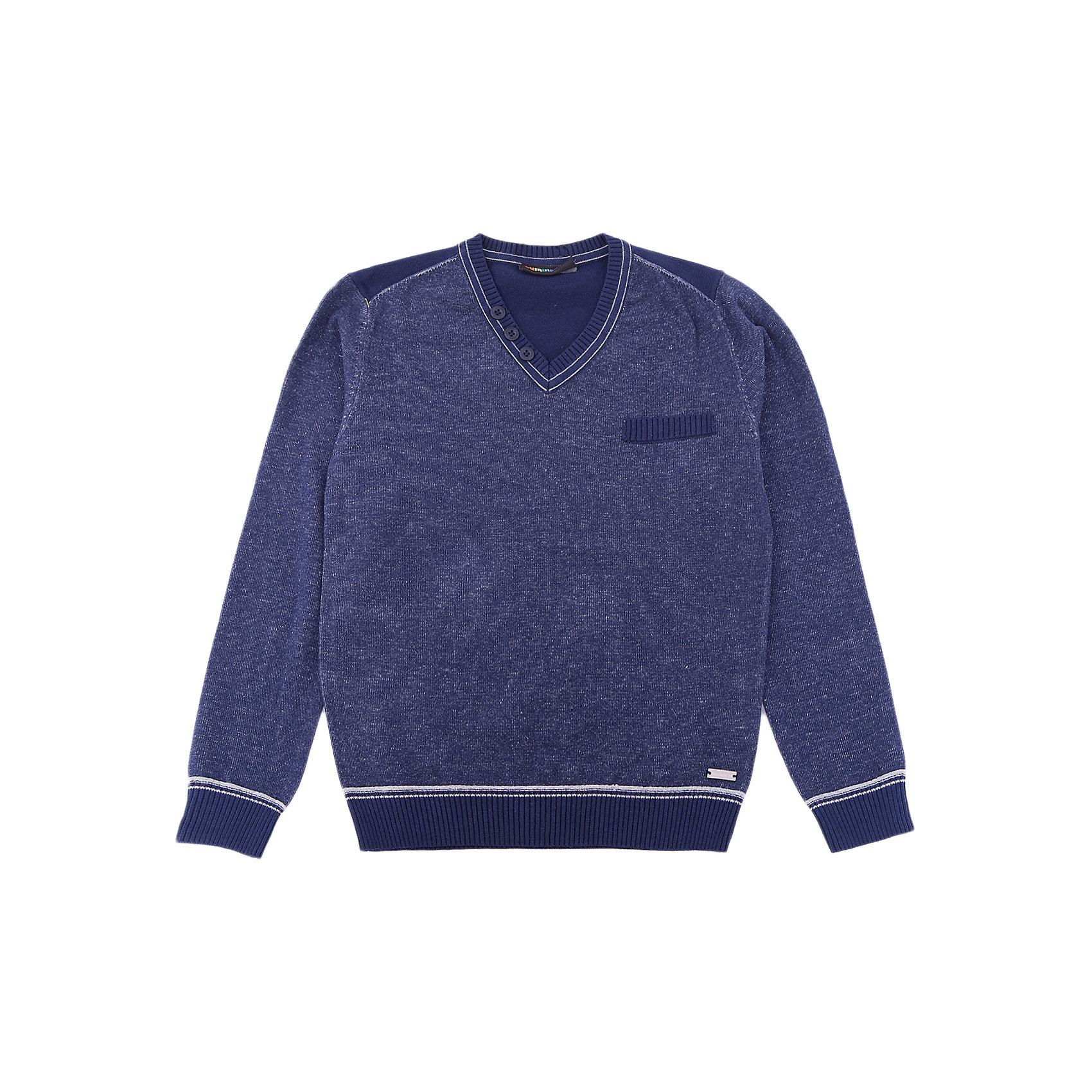 Джемпер Luminoso для мальчикаСвитера и кардиганы<br>Характеристики товара:<br><br>• цвет: синий<br>• состав: 60% хлопок, 40% акрил<br>• сезон: демисезон<br>• длинные рукава<br>• декор: металлический логотип, пуговицы<br>• страна бренда: Россия<br>• страна производства: Китай<br><br>Джемпер для ребенка сделан из мягкого качественного материала. Детский джемпер легко надевается благодаря глубокому вырезу. Джемпер Luminoso для детей оригинально и модно смотрится. <br><br>Джемпер Luminoso (Люминозо) для мальчика можно купить в нашем интернет-магазине.<br><br>Ширина мм: 190<br>Глубина мм: 74<br>Высота мм: 229<br>Вес г: 236<br>Цвет: синий<br>Возраст от месяцев: 132<br>Возраст до месяцев: 144<br>Пол: Мужской<br>Возраст: Детский<br>Размер: 152,146,140,134,164,158<br>SKU: 7096900