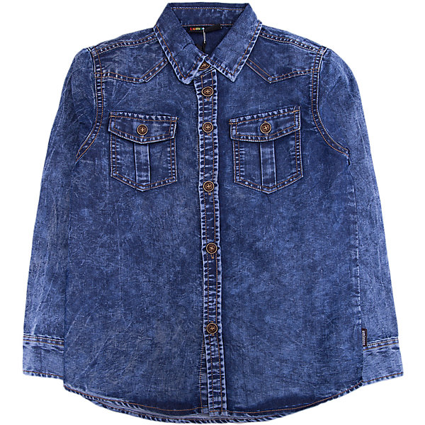 Рубашка Luminoso для мальчикаБлузки и рубашки<br>Характеристики товара:<br><br>• цвет: синий<br>• состав ткани: 100% хлопок<br>• сезон: демисезон<br>• застежка: пуговицы<br>• длинные рукава<br>• страна бренда: Россия<br>• страна изготовитель: Россия<br><br>Джинсовая рубашка для ребенка декорирована эффектом потертостей, дополнена отложным воротником и карманами. Плотная ткань детской рубашки защитит ребенка от холодного воздуха. Рубашка для ребенка поможет обеспечить необходимый уровень комфорта в прохладную погоду. <br><br>Рубашку Luminoso (Люминозо) для мальчика можно купить в нашем интернет-магазине.<br>Ширина мм: 174; Глубина мм: 10; Высота мм: 169; Вес г: 157; Цвет: синий; Возраст от месяцев: 96; Возраст до месяцев: 108; Пол: Мужской; Возраст: Детский; Размер: 134,164,158,152,146,140; SKU: 7096963;