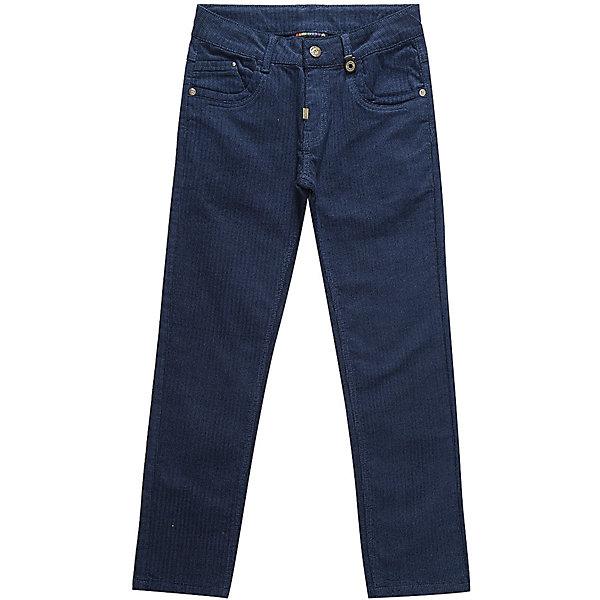 Брюки Luminoso для мальчикаДжинсовая одежда<br>Характеристики товара:<br><br>• цвет: синий<br>• состав: 98% хлопок, 2% спандекс<br>• сезон: демисезон<br>• застежка: пуговица, молния<br>• шлевки<br>• карманы<br>• страна бренда: Россия<br>• страна производства: Китай<br><br>Синие брюки Luminoso для мальчика - прямого кроя. Классические детские брюки модно смотрятся и комфортно сидят по фигуре. Такие брюки для мальчика дополнены шлевками для ремня.<br><br>Брюки Luminoso (Люминозо) для мальчика можно купить в нашем интернет-магазине.<br>Ширина мм: 215; Глубина мм: 88; Высота мм: 191; Вес г: 336; Цвет: синий; Возраст от месяцев: 144; Возраст до месяцев: 156; Пол: Мужской; Возраст: Детский; Размер: 158,134,164,152,146,140; SKU: 7097005;