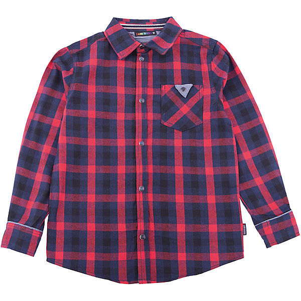 Рубашка Luminoso для мальчикаБлузки и рубашки<br>Характеристики товара:<br><br>• цвет: красный<br>• состав ткани: 100% хлопок<br>• сезон: демисезон<br>• застежка: пуговицы<br>• длинные рукава<br>• страна бренда: Россия<br>• страна изготовитель: Россия<br><br>Хлопковая рубашка для ребенка дополнена отложным воротником и карманами. Плотная ткань детской рубашки защитит ребенка от холодного воздуха. Рубашка для ребенка поможет обеспечить необходимый уровень комфорта в прохладную погоду. <br><br>Рубашку Luminoso (Люминозо) для мальчика можно купить в нашем интернет-магазине.<br><br>Ширина мм: 174<br>Глубина мм: 10<br>Высота мм: 169<br>Вес г: 157<br>Цвет: синий<br>Возраст от месяцев: 96<br>Возраст до месяцев: 108<br>Пол: Мужской<br>Возраст: Детский<br>Размер: 134,164,158,152,146,140<br>SKU: 7097082