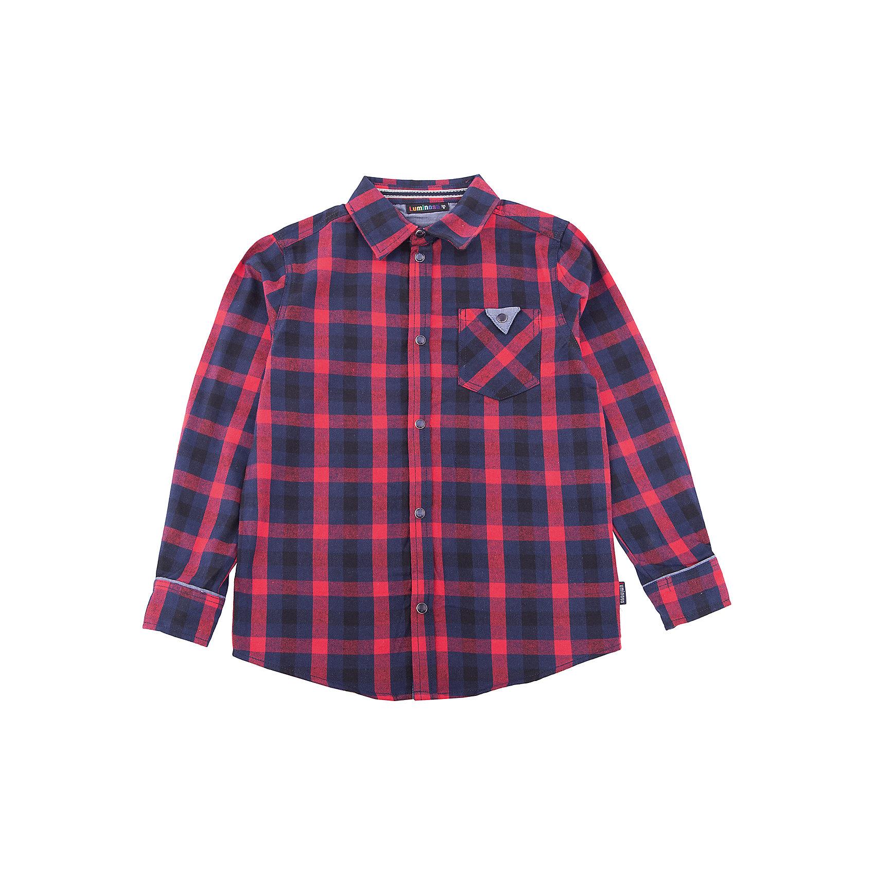 Рубашка Luminoso для мальчикаБлузки и рубашки<br>Рубашка Luminoso для мальчика<br><br>Состав:<br>100% хлопок<br><br>Ширина мм: 174<br>Глубина мм: 10<br>Высота мм: 169<br>Вес г: 157<br>Цвет: синий<br>Возраст от месяцев: 156<br>Возраст до месяцев: 168<br>Пол: Мужской<br>Возраст: Детский<br>Размер: 164,134,140,146,152,158<br>SKU: 7097082