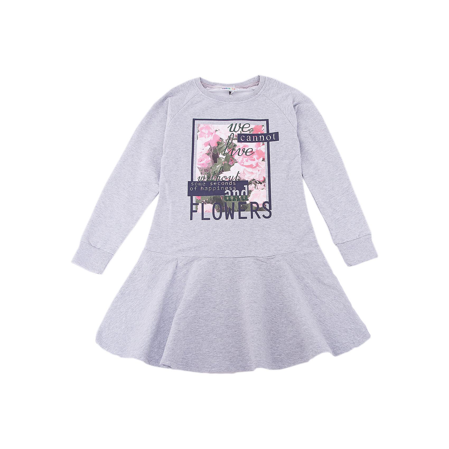 Платье Luminoso для девочкиПлатья и сарафаны<br>Платье Luminoso для девочки<br><br>Состав:<br>95% хлопок, 5% эластан<br><br>Ширина мм: 236<br>Глубина мм: 16<br>Высота мм: 184<br>Вес г: 177<br>Цвет: серый<br>Возраст от месяцев: 156<br>Возраст до месяцев: 168<br>Пол: Женский<br>Возраст: Детский<br>Размер: 164,134,140,146,152,158<br>SKU: 7097159