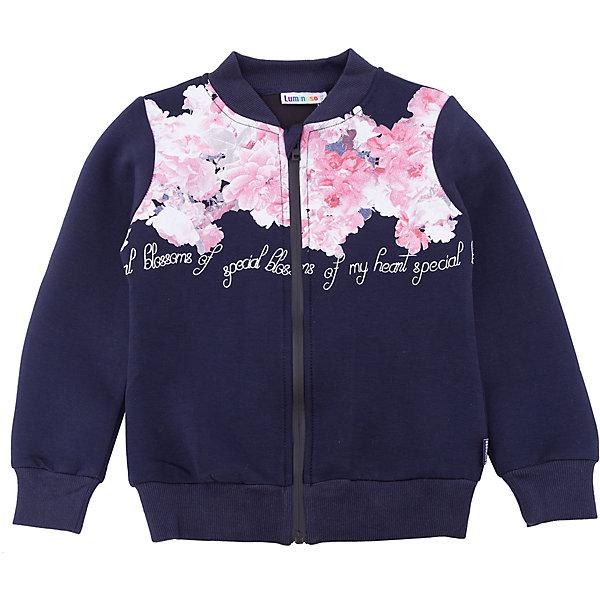 Куртка Luminoso для девочкиВерхняя одежда<br>Характеристики товара:<br><br>• цвет: синий<br>• состав ткани: 55% вискоза, 40% полиэстер, 5% эластан<br>• сезон: демисезон<br>• застежка: молния<br>• длинные рукава<br>• страна бренда: Россия<br>• страна изготовитель: Россия<br><br>Такая стильная куртка отличается цветочным принтом. Легкая куртка для ребенка поможет обеспечить необходимый уровень комфорта в прохладную погоду. Плотная ткань детской куртки защитят ребенка от холодного воздуха. <br><br>Куртку Luminoso (Люминозо) для девочки можно купить в нашем интернет-магазине.<br><br>Ширина мм: 356<br>Глубина мм: 10<br>Высота мм: 245<br>Вес г: 519<br>Цвет: синий<br>Возраст от месяцев: 96<br>Возраст до месяцев: 108<br>Пол: Женский<br>Возраст: Детский<br>Размер: 134,164,158,152,146,140<br>SKU: 7097229