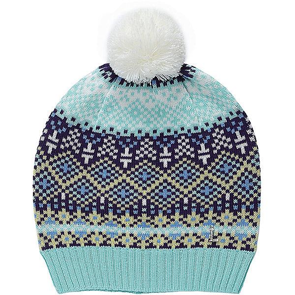Шапка Luminoso для девочкиГоловные уборы<br>Характеристики товара:<br><br>• цвет: голубой<br>• состав: 60% хлопок, 40% акрил<br>• сезон: демисезон<br>• температурный режим: от -10 до +5<br>• декор: вязаный узор, помпон<br>• страна бренда: Россия<br>• страна производства: Китай<br><br>Демисезонная шапка для девочки просто надевается благодаря эластичному трикотажу. Детская шапка стильно смотрится. Красная шапка для девочки отличается оригинальным дизайном. <br><br>Шапку Luminoso (Свит Берри) для девочки можно купить в нашем интернет-магазине.<br><br>Ширина мм: 89<br>Глубина мм: 117<br>Высота мм: 44<br>Вес г: 155<br>Цвет: лиловый<br>Возраст от месяцев: 96<br>Возраст до месяцев: 108<br>Пол: Женский<br>Возраст: Детский<br>Размер: 56,54<br>SKU: 7097264