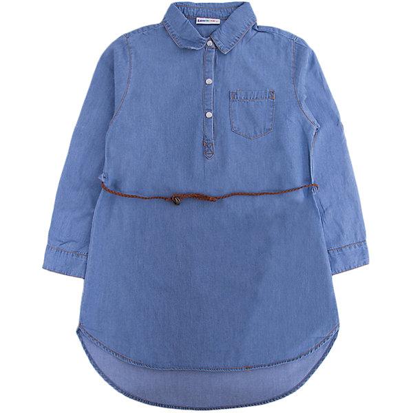 Платье Luminoso для девочкиДжинсовая одежда<br>Характеристики товара:<br><br>• цвет: голубой<br>• состав: 100% хлопок<br>• сезон: демисезон<br>• застежка: кнопки<br>• длинные рукава <br>• страна бренда: Россия<br>• страна производства: Китай<br><br>Джинсовое платье для девочки сделано из легкого дышащего материала. Удобное платье Luminoso для девочки дополнено карманом и отложным воротником. В таком детском платье ребенок будет выглядеть аккуратно и чувствовать себя комфортно.<br><br>Платье Luminoso (Люминозо) для девочки можно купить в нашем интернет-магазине.<br><br>Ширина мм: 236<br>Глубина мм: 16<br>Высота мм: 184<br>Вес г: 177<br>Цвет: голубой<br>Возраст от месяцев: 96<br>Возраст до месяцев: 108<br>Пол: Женский<br>Возраст: Детский<br>Размер: 134,164,158,152,146,140<br>SKU: 7097344
