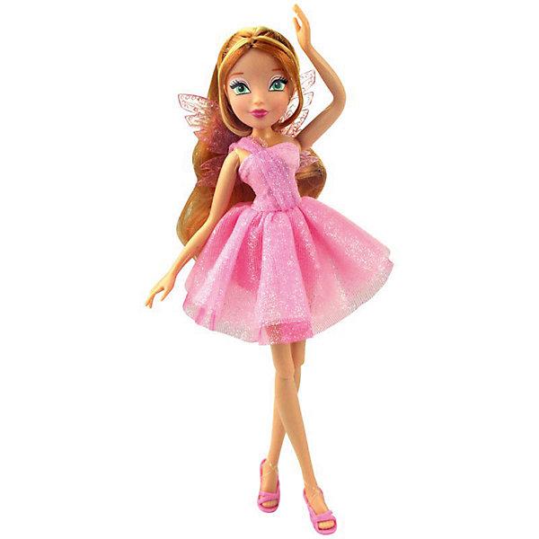 Кукла Winx Club Мода и магия-4 Флора, 31,5 смWinx Club<br>Характеристики товара:<br><br>• возраст: от 3 лет;<br>• материал: пластик;<br>• размер упаковки: 31х6х4 см;<br>• вес: 200 гр.;<br>•высота куклы: 29 см;<br>•упаковка: коробка;<br>•страна производитель: Китай;<br>• бренд: Winx Club.<br><br>Кукла Winx Club из коллекции «Мода и магия-4» Флора зовет на встречу приключениям каждую любительницу мультипликационного сериала Winx. Флора одета в пышное сияющее розовое платье, за спиной у феи нежные розовые крылышки, а на ногах у неё - изящные розовые босоножки, которые нетрудно снимать и одевать.     <br><br>Длинные русые волосы у куклы выполнены из гладкого нейлона высокого качества и надежно прошиты. Волосы можно без проблем расчесывать и укладывать, так как они не запутываются.<br><br>Ноги и руки у Флоры подвижные, их можно сгибать в суставах и придавать фее различные позы. Кукла в точности повторяет черты лица своего мультипликационного прототипа: большие глаза, аккуратный носик и пухлые губки принадлежат феям Винкс.<br><br> Куклу Winx Club «Мода и магия-4» Флора можно купить в нашем интернет-магазине.<br>Ширина мм: 130; Глубина мм: 60; Высота мм: 315; Вес г: 225; Возраст от месяцев: 36; Возраст до месяцев: 120; Пол: Женский; Возраст: Детский; SKU: 7097663;