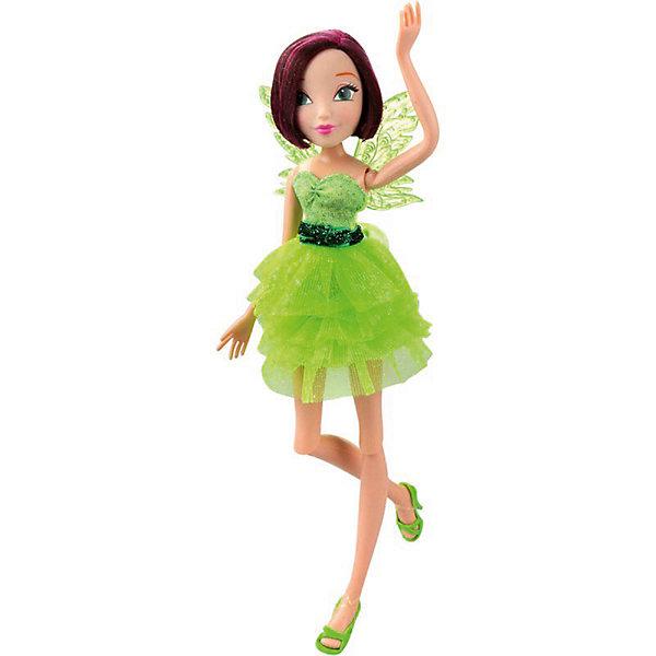Кукла Winx Club Мода и магия-4 Техна, 31,5 смПопулярные игрушки<br>Характеристики товара:<br><br>• возраст: от 3 лет;<br>• материал: пластик;<br>• размер упаковки: 31х6х4 см;<br>• вес: 200 гр.;<br>•высота куклы: 29 см;<br>•упаковка: коробка;<br>•страна производитель: Китай;<br>• бренд: Winx Club.<br><br>Кукла Winx Club из коллекции «Мода и магия-4» Техна зовет на встречу приключениям каждую любительницу мультипликационного сериала Winx.<br><br> Техна одета в коктейльное платье салатового цвета. На ногах у куклы изящные бирюзовые босоножки, которые нетрудно снимать и одевать. А за спиной феи - невесомые зелёные крылышки. У Техны короткие темные волосы с розоватым оттенком. Волосы куклы выполнены из гладкого нейлона высокого качества и надежно прошиты. <br><br>Ноги и руки у Техны подвижные, их можно сгибать в суставах и придавать фее различные позы. Кукла в точности повторяет черты лица своего мультипликационного прототипа: большие глаза, аккуратный носик и пухлые губки принадлежат феям Винкс.<br><br> Куклу Winx Club «Мода и магия-4» Техна можно купить в нашем интернет-магазине.<br>Ширина мм: 130; Глубина мм: 60; Высота мм: 315; Вес г: 225; Возраст от месяцев: 36; Возраст до месяцев: 120; Пол: Женский; Возраст: Детский; SKU: 7097667;