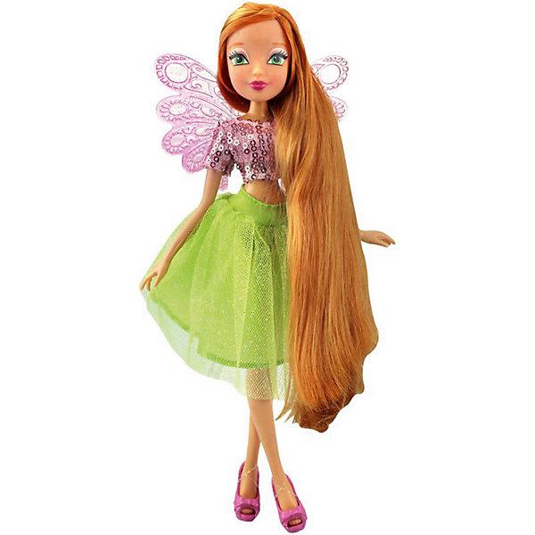 Кукла Winx Club Мерцающее облако Флора, 35 смПопулярные игрушки<br>Характеристики товара:<br><br>• возраст: от 3 лет;<br>• материал: пластик;<br>• размер упаковки: 35х21х6 см;<br>• вес: 325 гр.;<br>•высота куклы: 35 см;<br>•упаковка: коробка;<br>•страна производитель: Китай;<br>• бренд: Winx Club.<br><br>Кукла Winx Club из коллекции «Мерцающее облако» Флора приглашает каждую любительницу мультипликационного сериала Winx стать её личным стилистом.<br><br>У куклы Флоры длинные русые волосы, которые можно украсить узорами звёздочек или сердечек, а также покрасить в другой цвет с помощью предметов в комплекте набора. Волосы куклы выполнены из гладкого нейлона высокого качества и надежно прошиты, они не запутываются и их легко расчесывать и укладывать.<br><br>Флора очень стильно одета: на ней нежно-розовый топ с пайетками и пышная салатовая юбка с подкладкой. На ногах у куклы стильные розовые босоножки, которые легко снимать и одевать, а за спиной – нежные розовые крылышки. <br><br>Материалы, из которых изготовлена кукла абсолютно безопасные: тело выполнено из высококачественного пластика, а одежда из гипоаллергенного текстиля.<br><br>Куклу Winx Club «Мерцающее облако» Флора можно купить в нашем интернет-магазине.<br>Ширина мм: 210; Глубина мм: 60; Высота мм: 350; Вес г: 225; Возраст от месяцев: 36; Возраст до месяцев: 120; Пол: Женский; Возраст: Детский; SKU: 7097669;